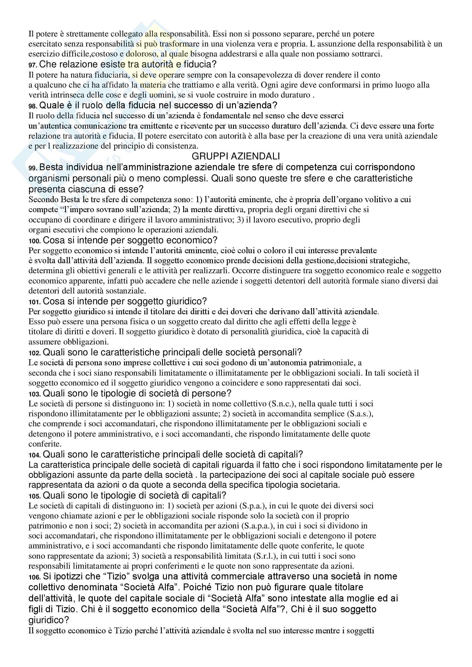 Economia aziendale - 214 domande d'esame con risposta Pag. 11