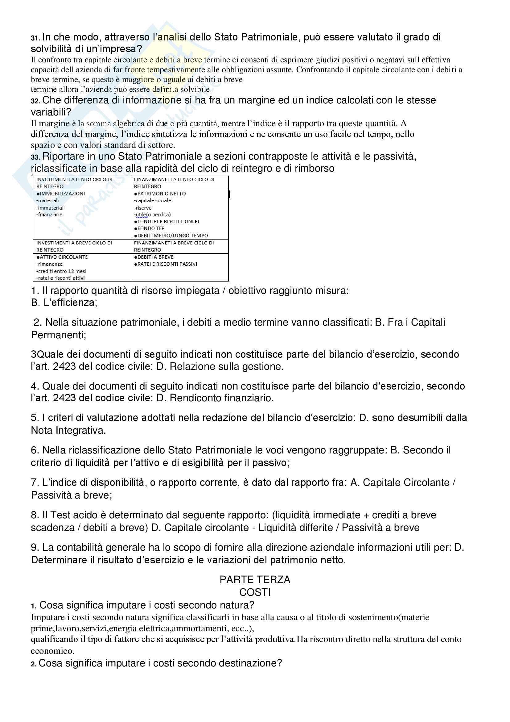 Economia aziendale - 214 domande d'esame con risposta Pag. 16
