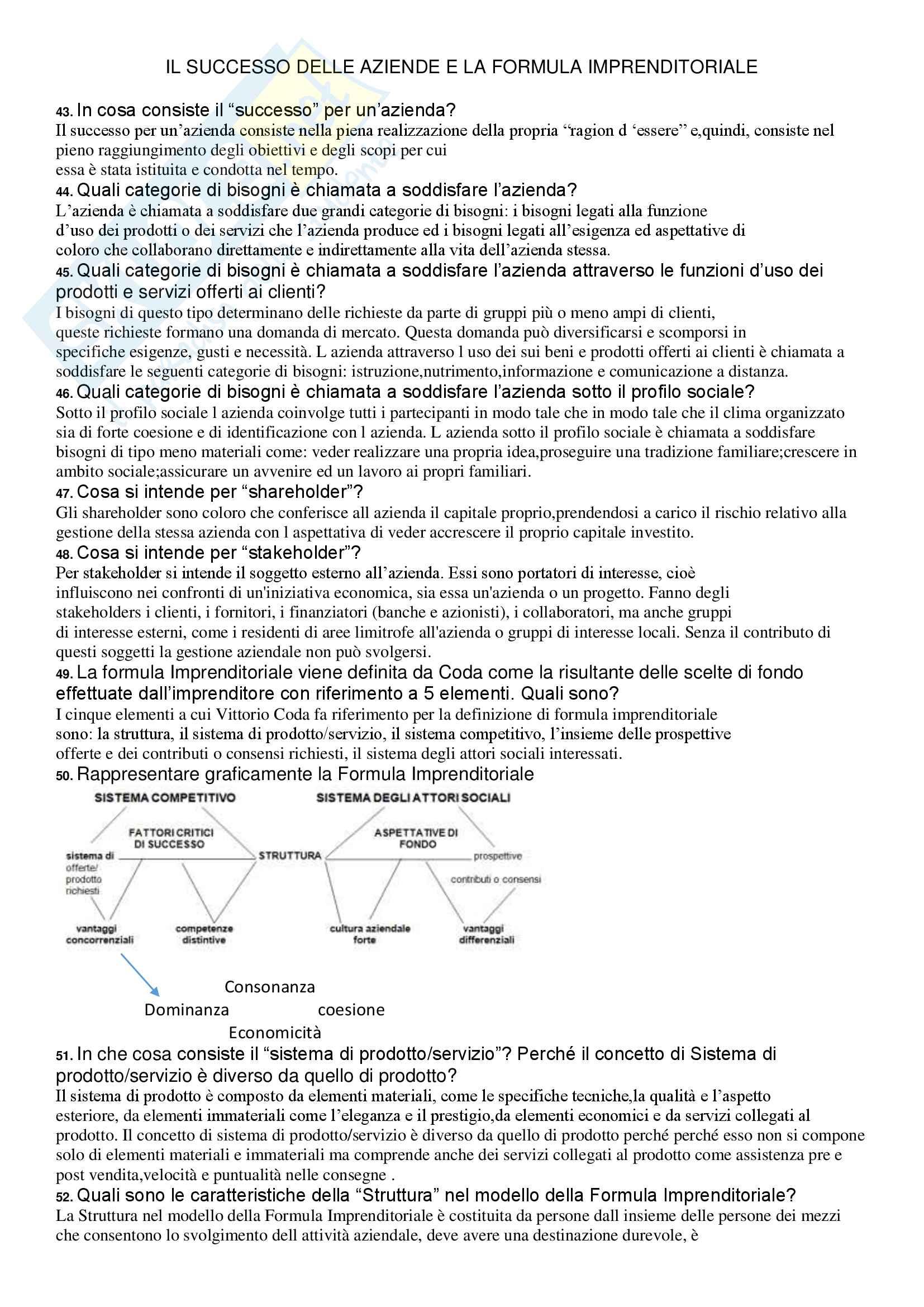 Economia aziendale - 214 domande d'esame con risposta Pag. 6