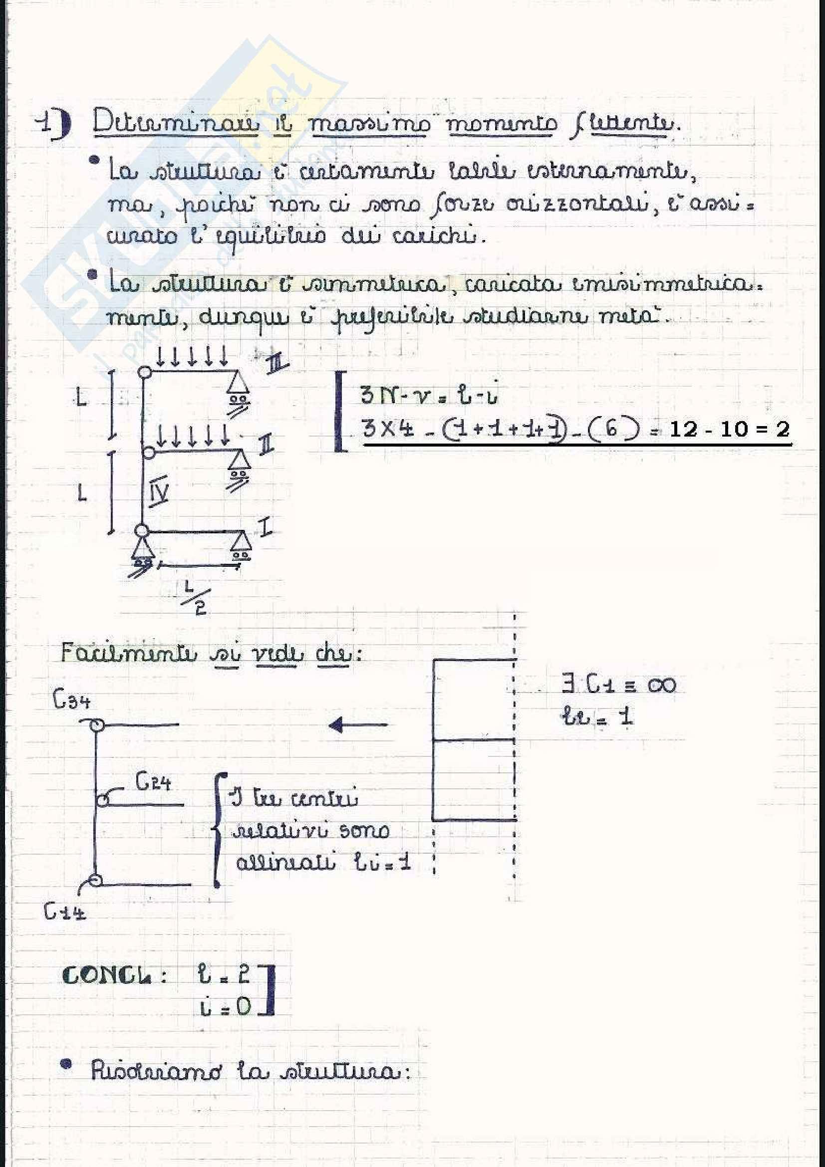 Scienza delle costruzioni - Esercizi sullo stato di tensione Pag. 2