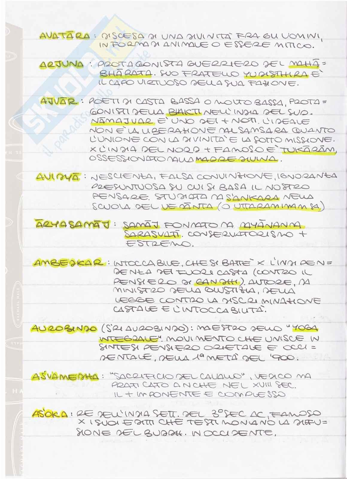 Filosofia indiana - Terminologia specifica Pag. 2