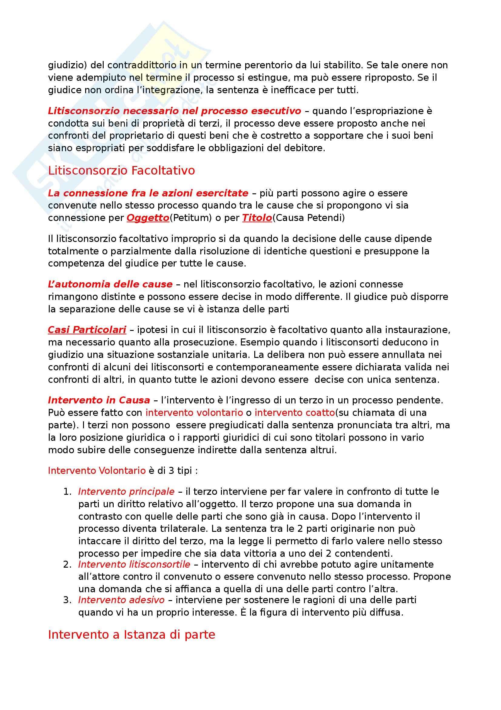 Riassunto esame Diritto Processuale Civile, prof. Maruffi, libro consigliato Diritto Processuale Civile di Tarzia Pag. 16