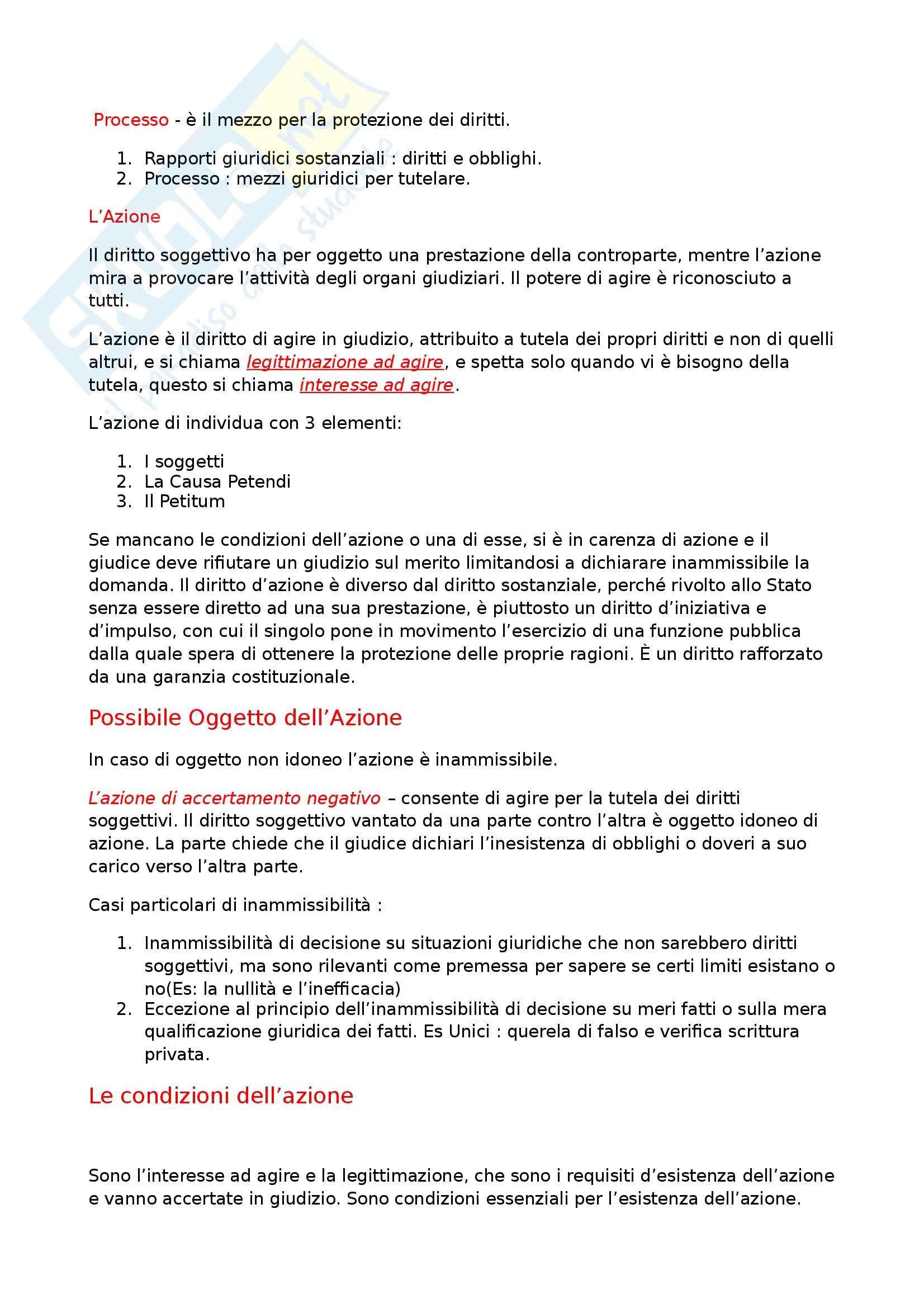 Riassunto esame Diritto Processuale Civile, prof. Maruffi, libro consigliato Diritto Processuale Civile di Tarzia Pag. 21