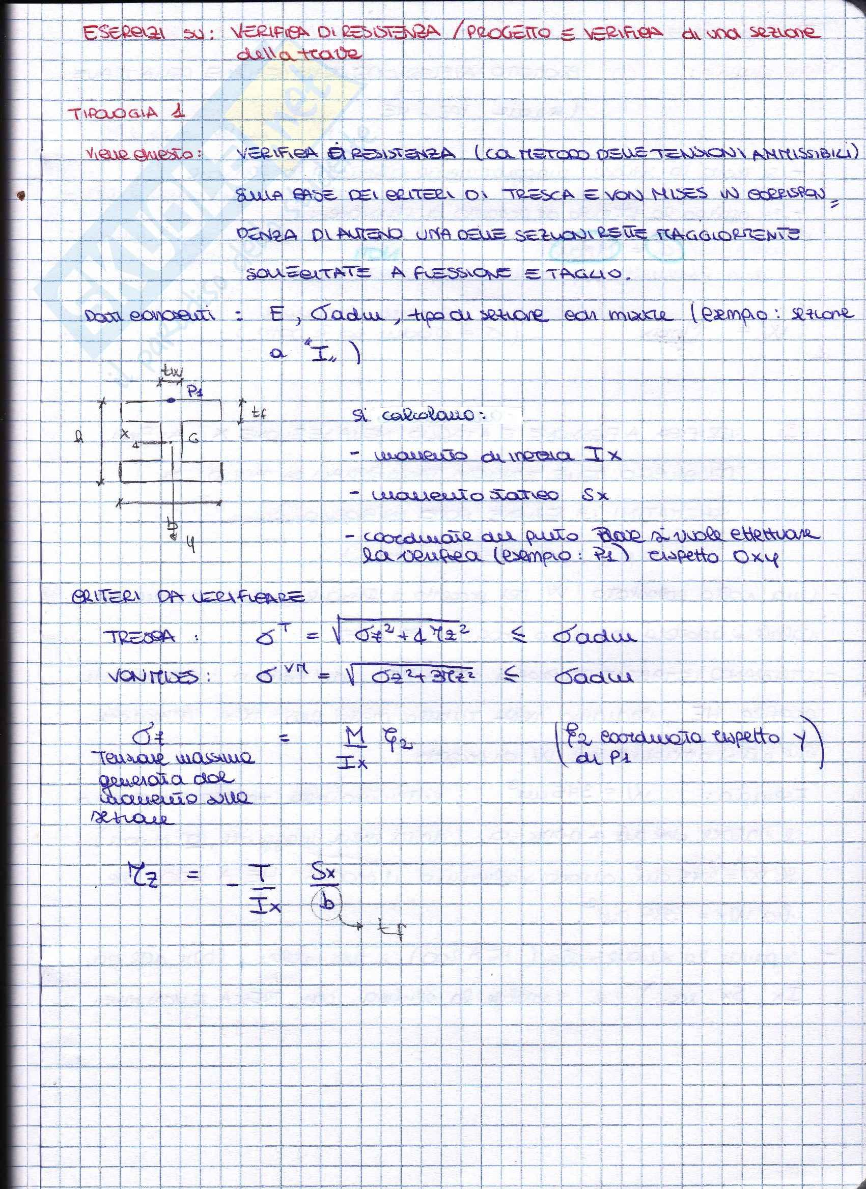 Scienza delle costruzioni, Esercizi svolti e spiegati 2