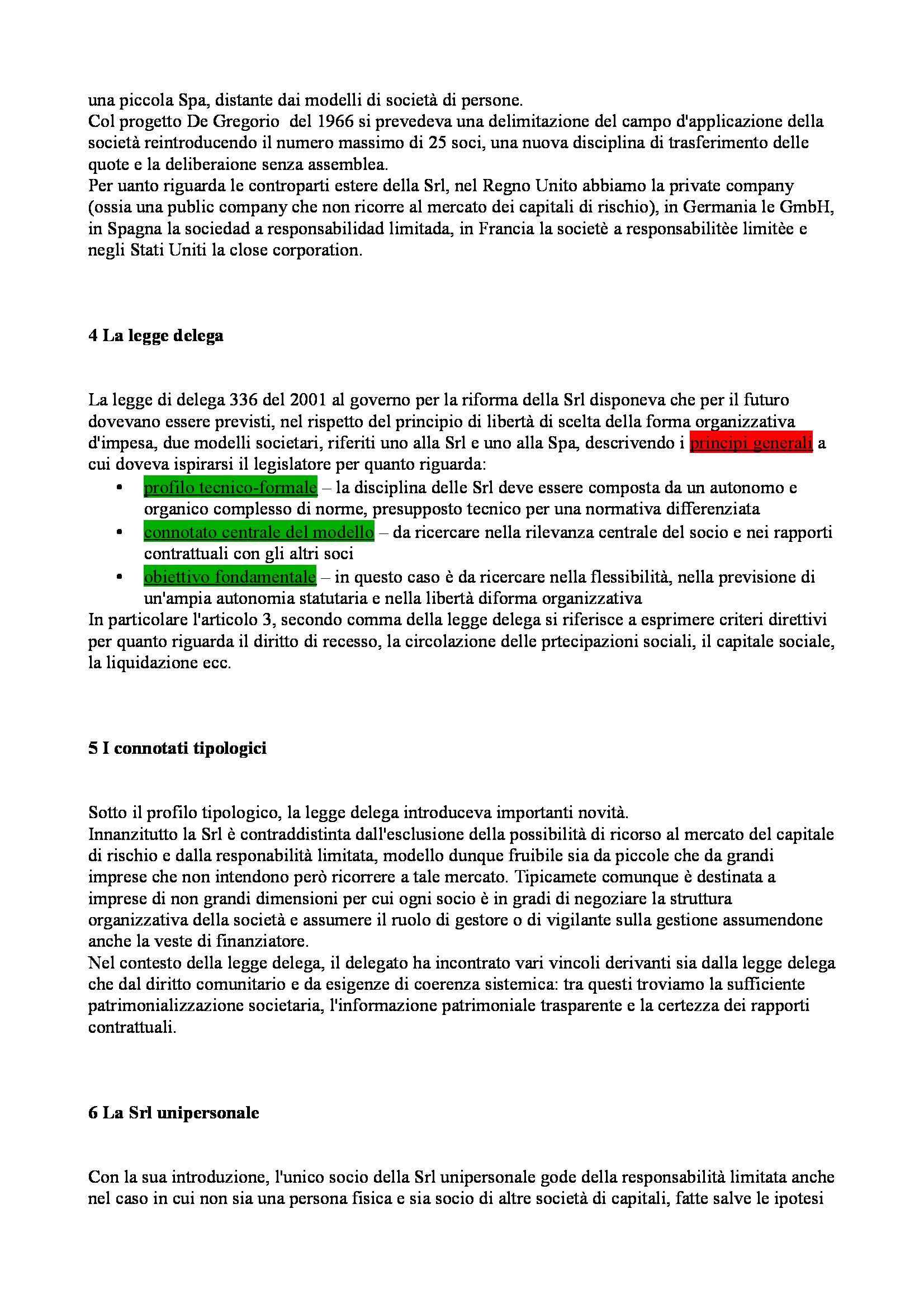 Riassunto esame Diritto Commerciale Avanzato, prof. Ibba, libro consigliato La Società a Responsabilità Limitata, Cagnasso Pag. 2