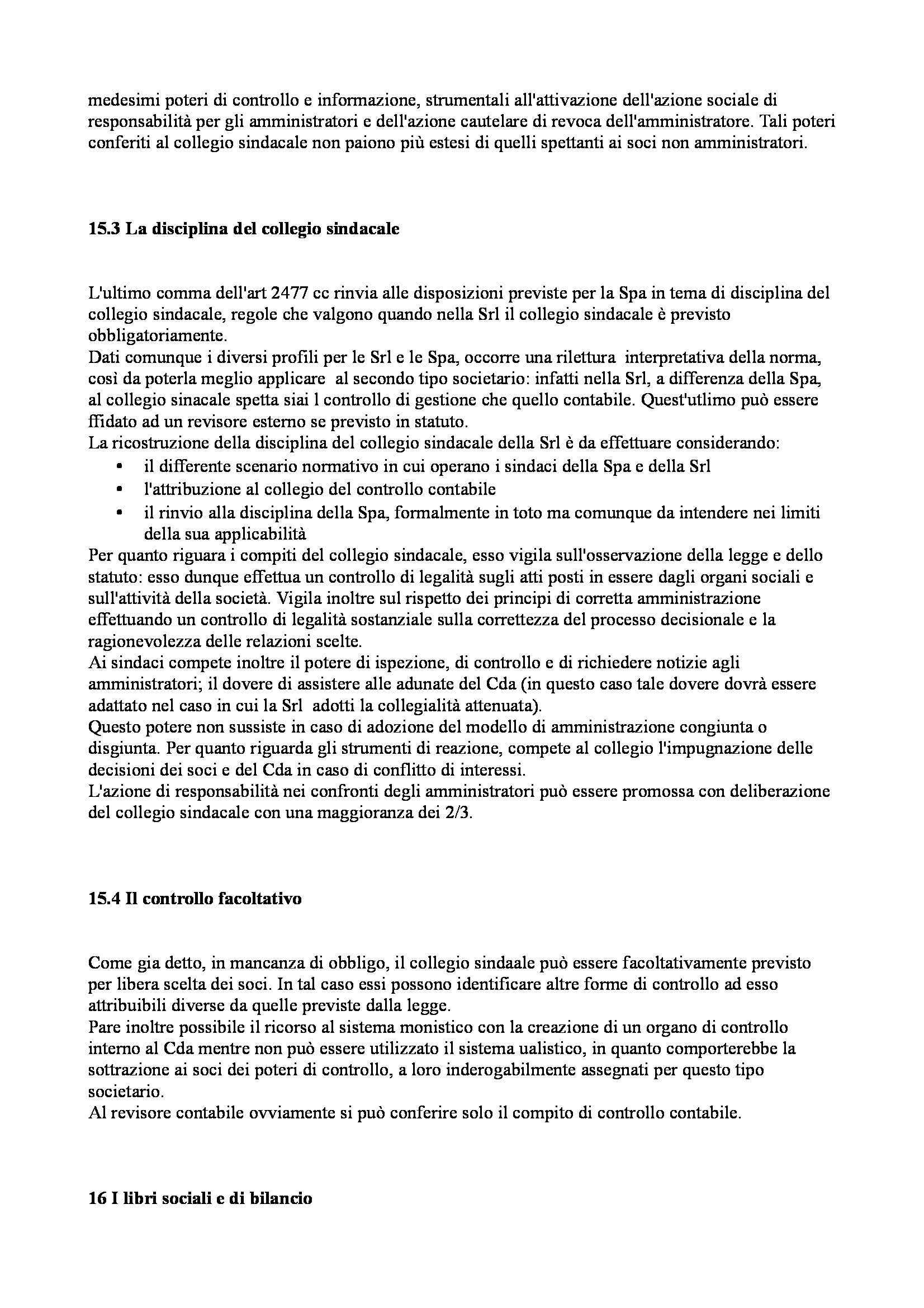 Riassunto esame Diritto Commerciale Avanzato, prof. Ibba, libro consigliato La Società a Responsabilità Limitata, Cagnasso Pag. 31