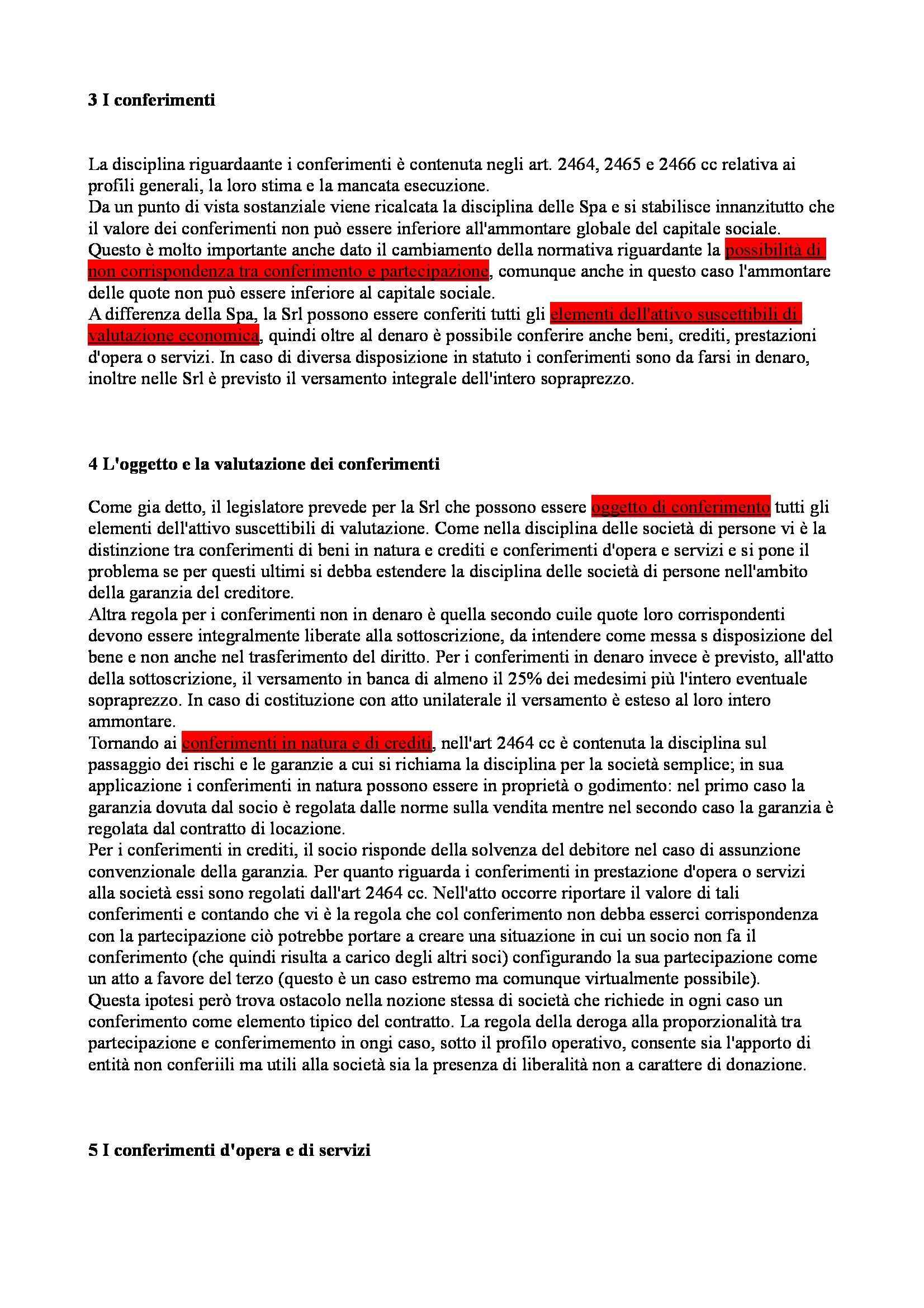 Riassunto esame Diritto Commerciale Avanzato, prof. Ibba, libro consigliato La Società a Responsabilità Limitata, Cagnasso Pag. 6