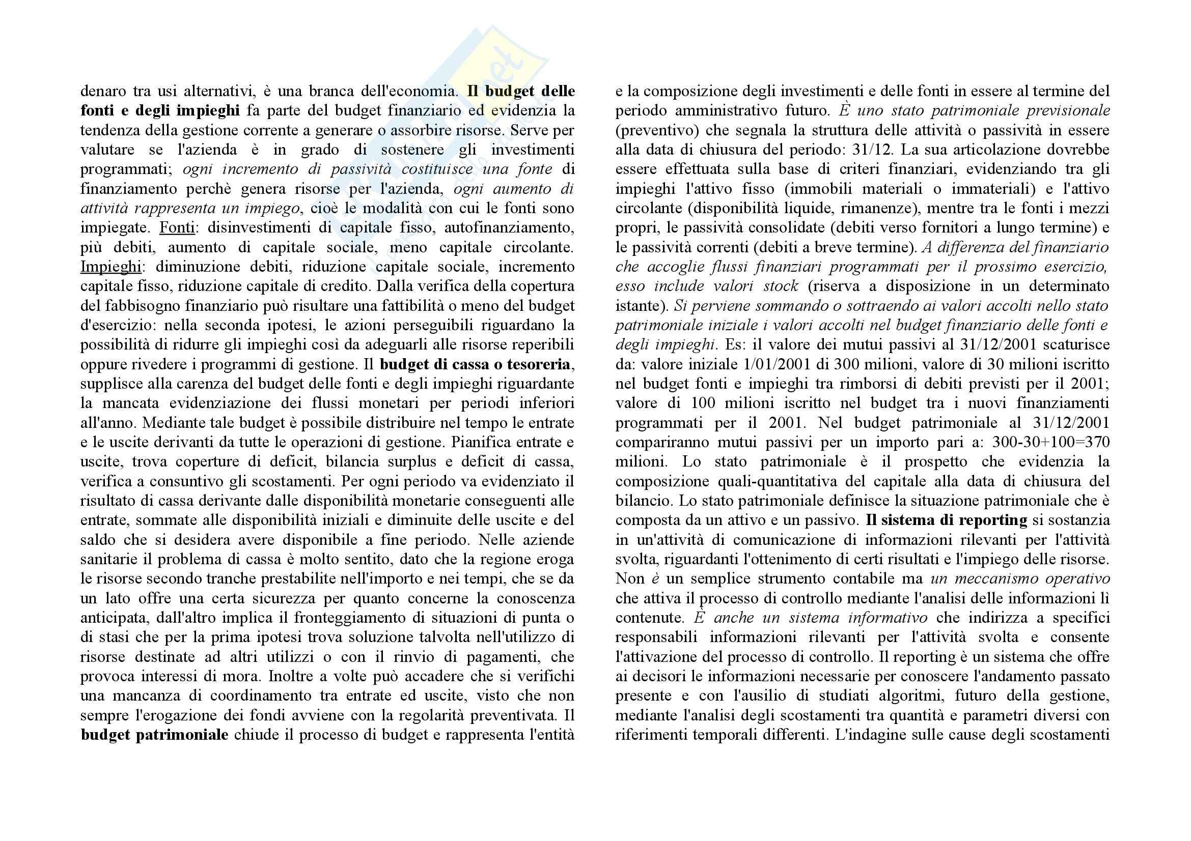 Economia delle aziende sanitarie - i presupposti per il controllo Pag. 11