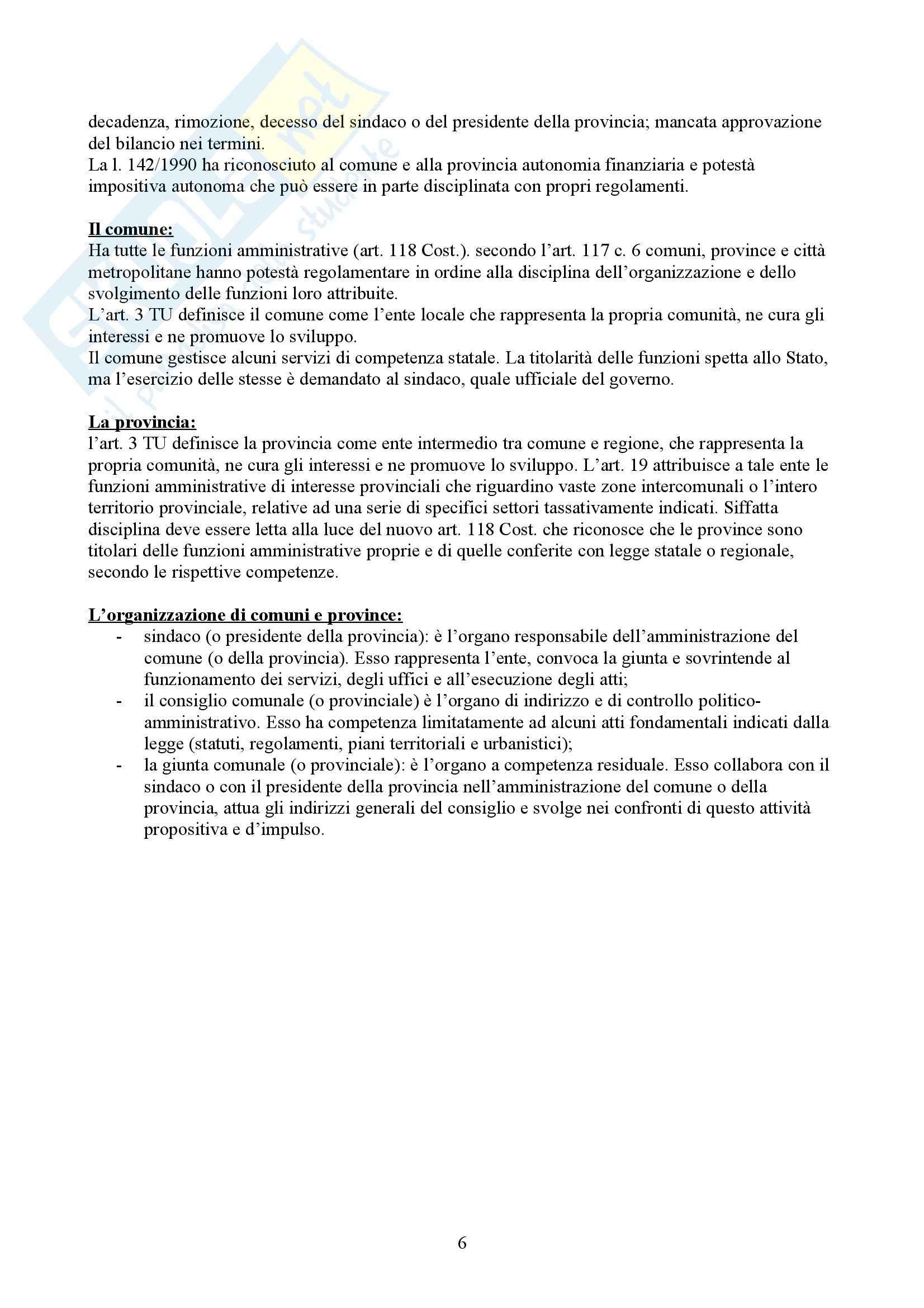 Diritto amministrativo - l'organizzazione degli Enti pubblici Pag. 6