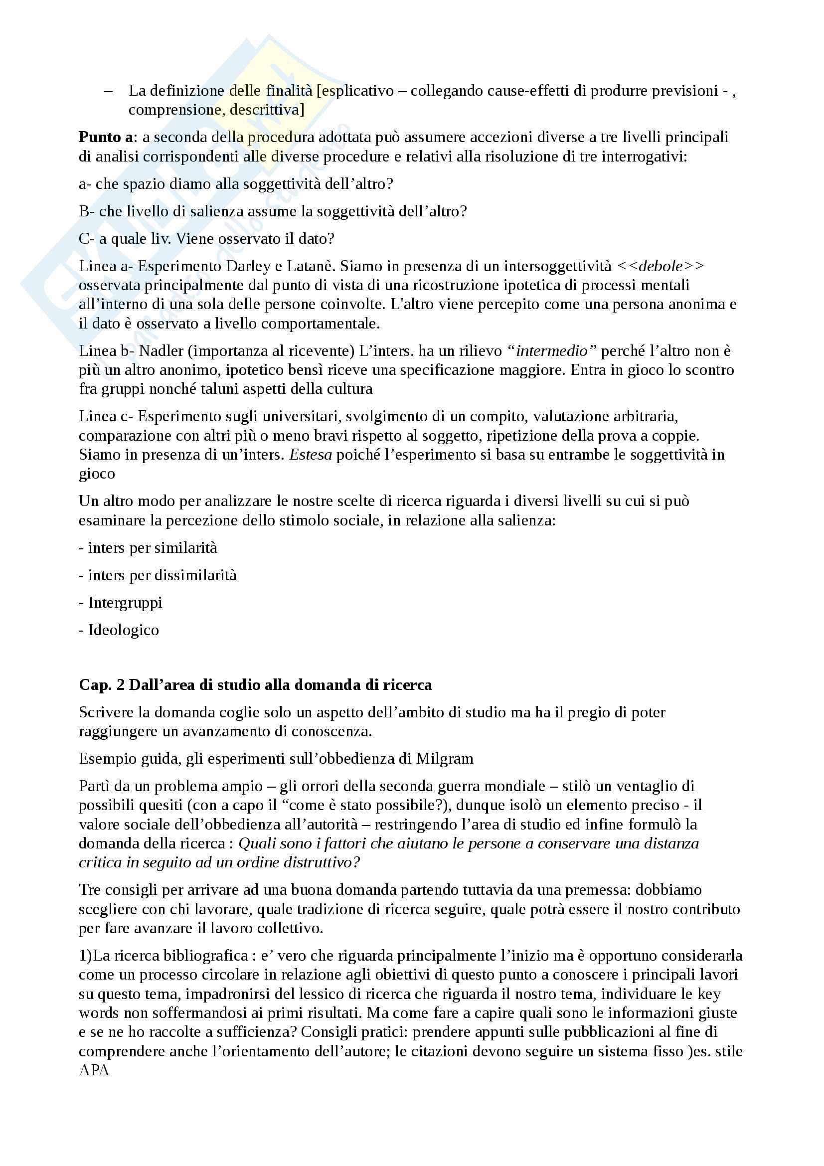 Psicologia sociale e della comunicazione - fare ricerca in psicologia sociale Pag. 2