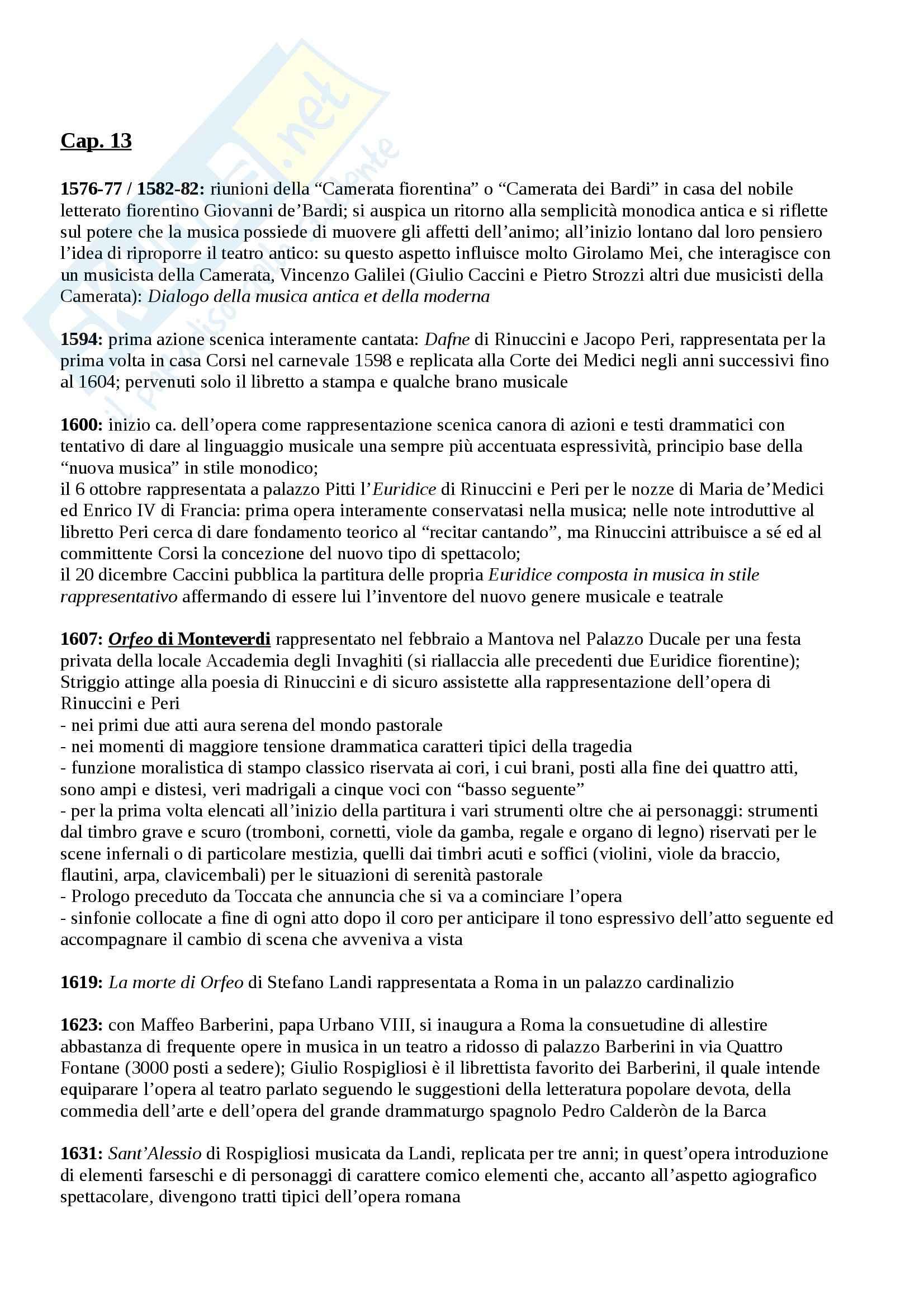 Riassunto esame Storia del melodramma, prof. Toscani, libro consigliato Manuale di storia del melodramma, Surian