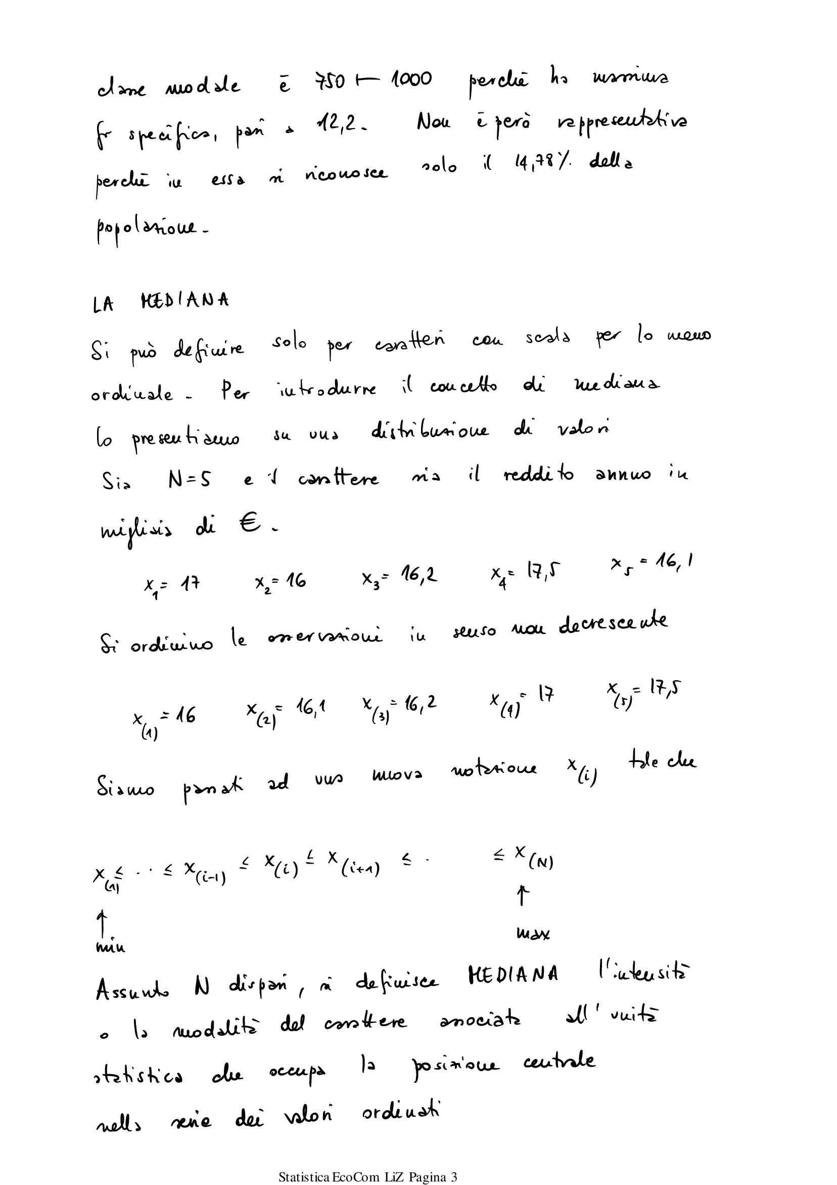 Appunti di Statistica descrittiva - I parziale Pag. 31