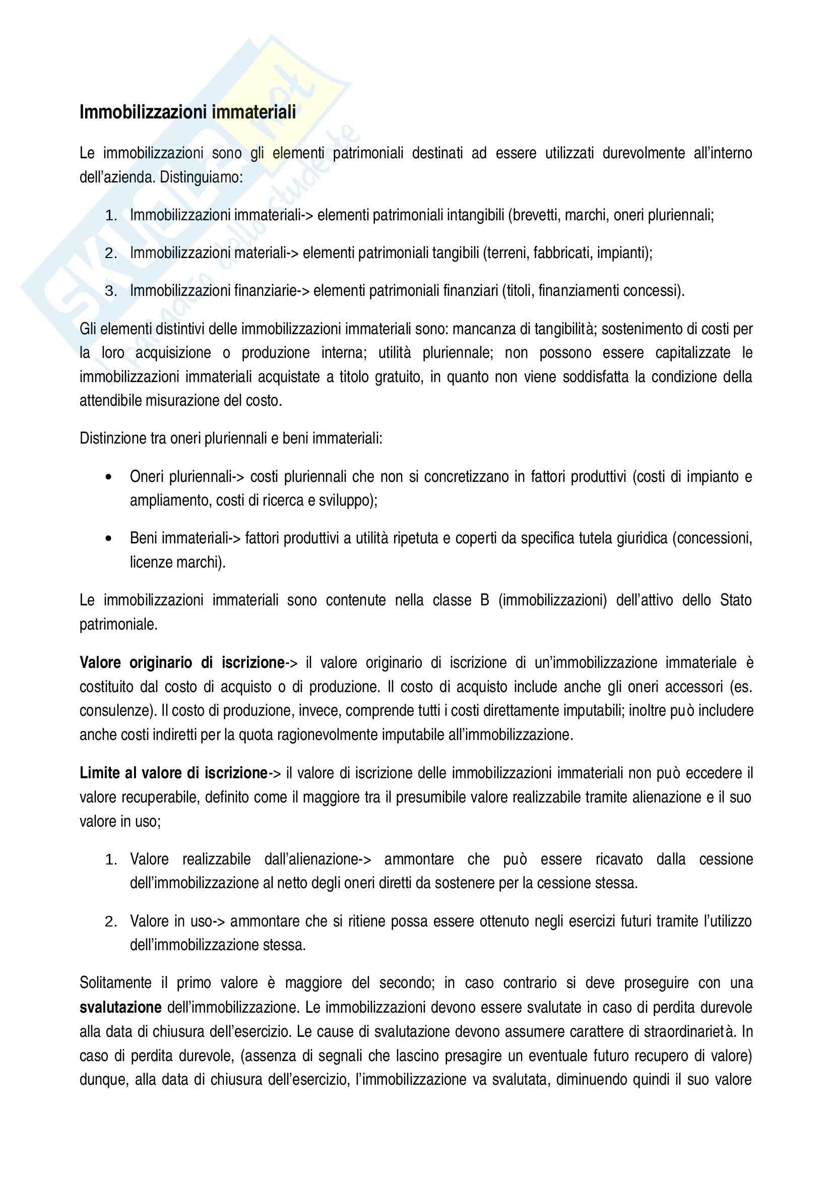 Immobilizzazioni immateriali, OIC e IASB