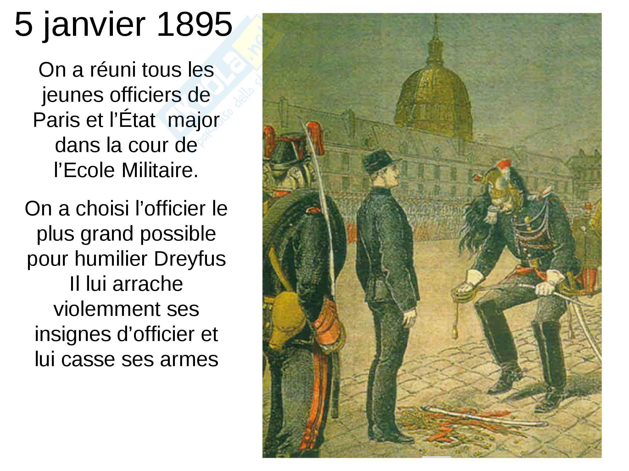 Présentation Power Point de l'affaire Dreyfus Pag. 11