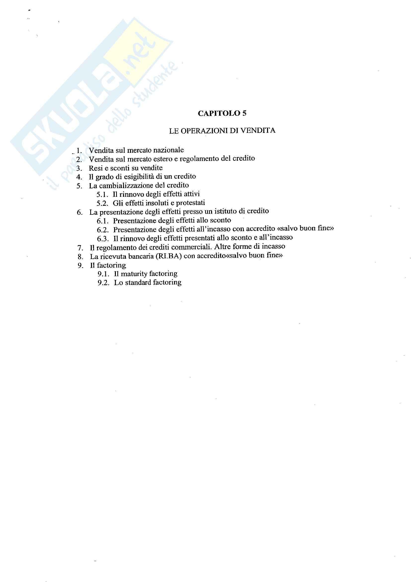 Economia aziendale II - Contabilità cap. 5 - Appunti