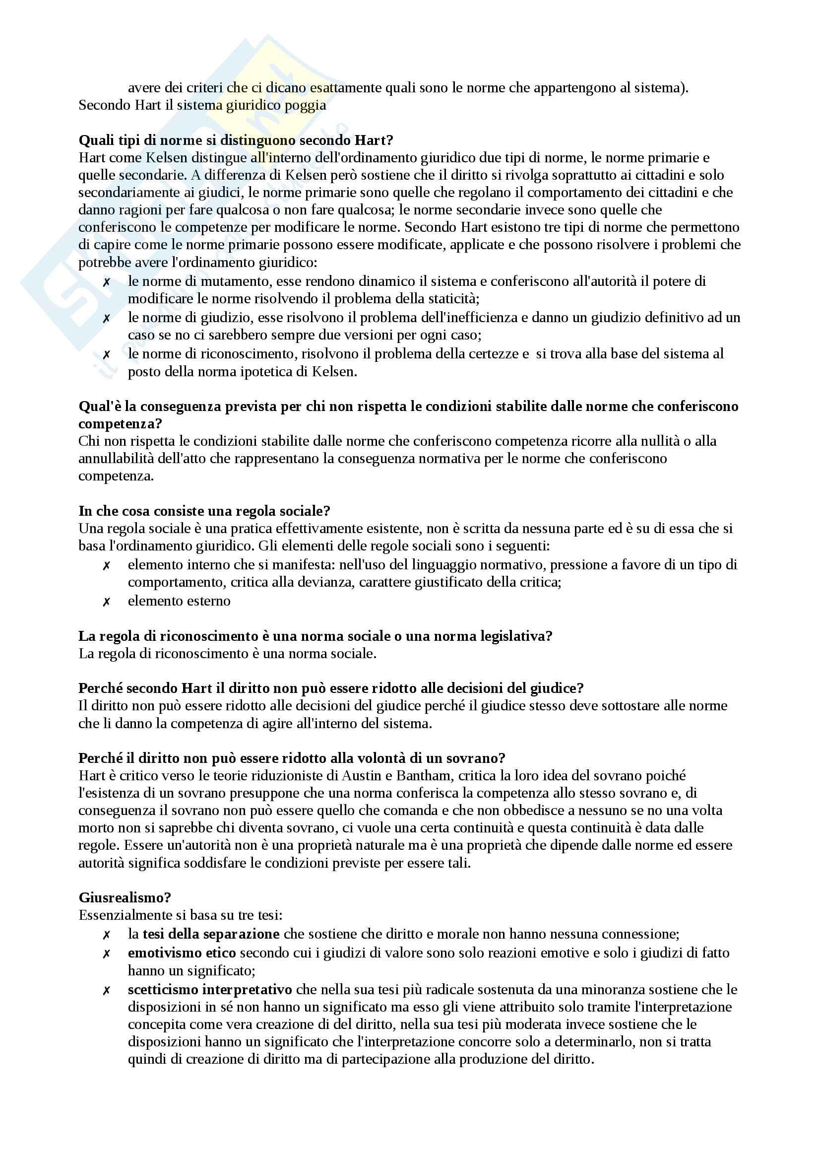 Domande e risposte (appunti) primo compito di filosofia del diritto Pag. 6