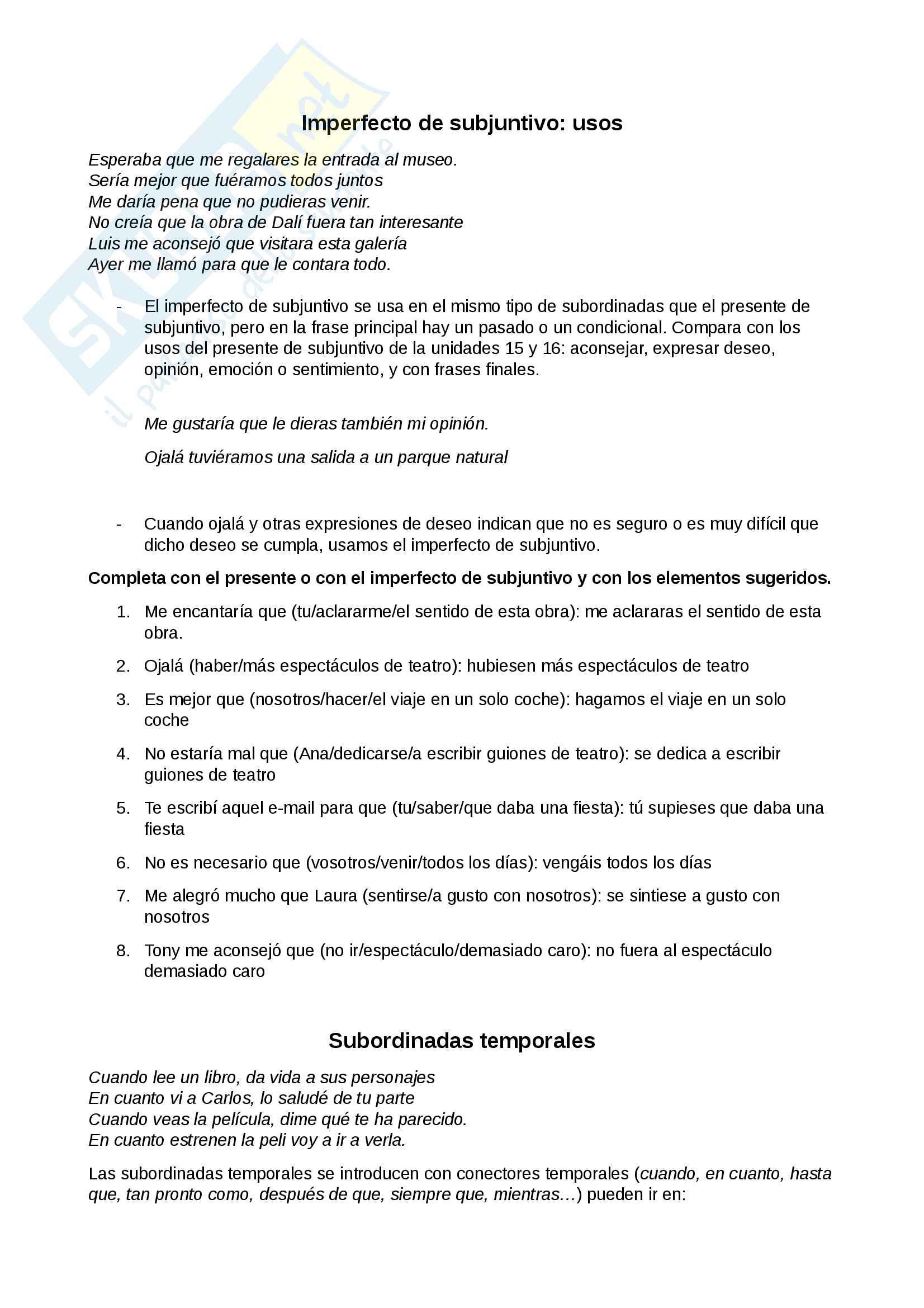 Appunti di Spagnolo 2