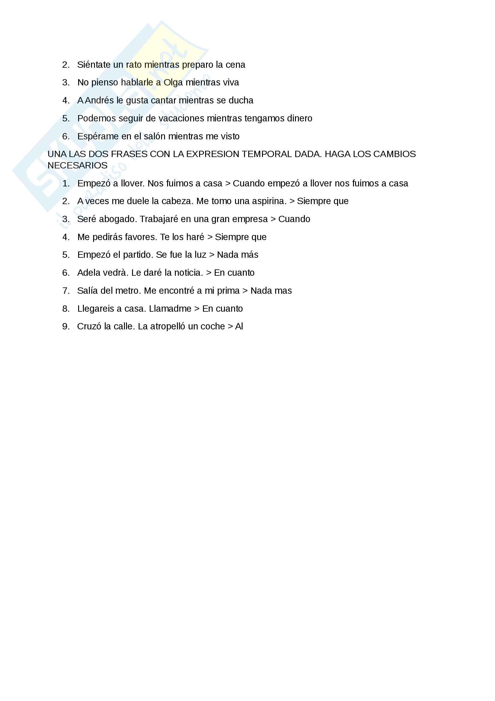Appunti di Spagnolo 2 Pag. 6