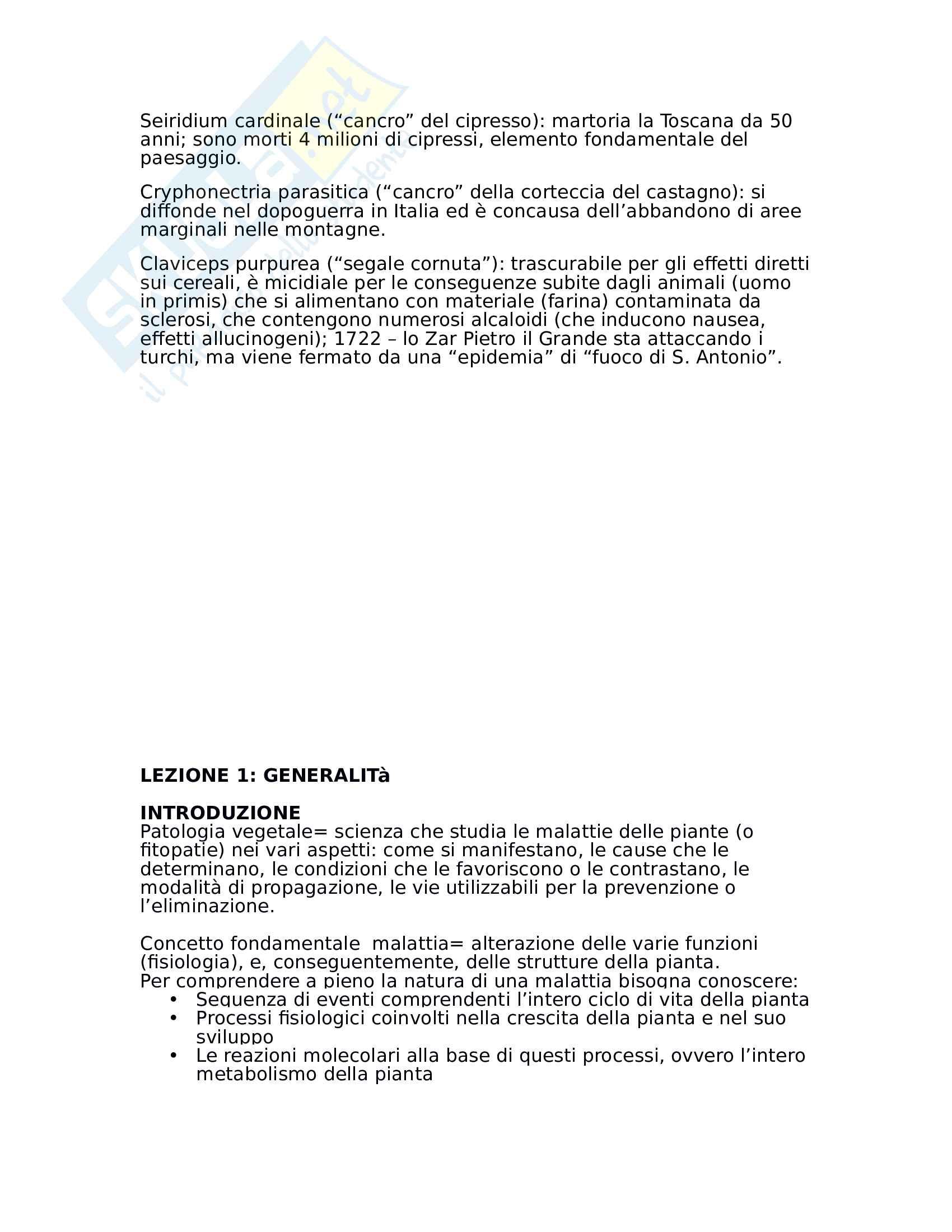 Fitopatologia vegetale Pag. 11