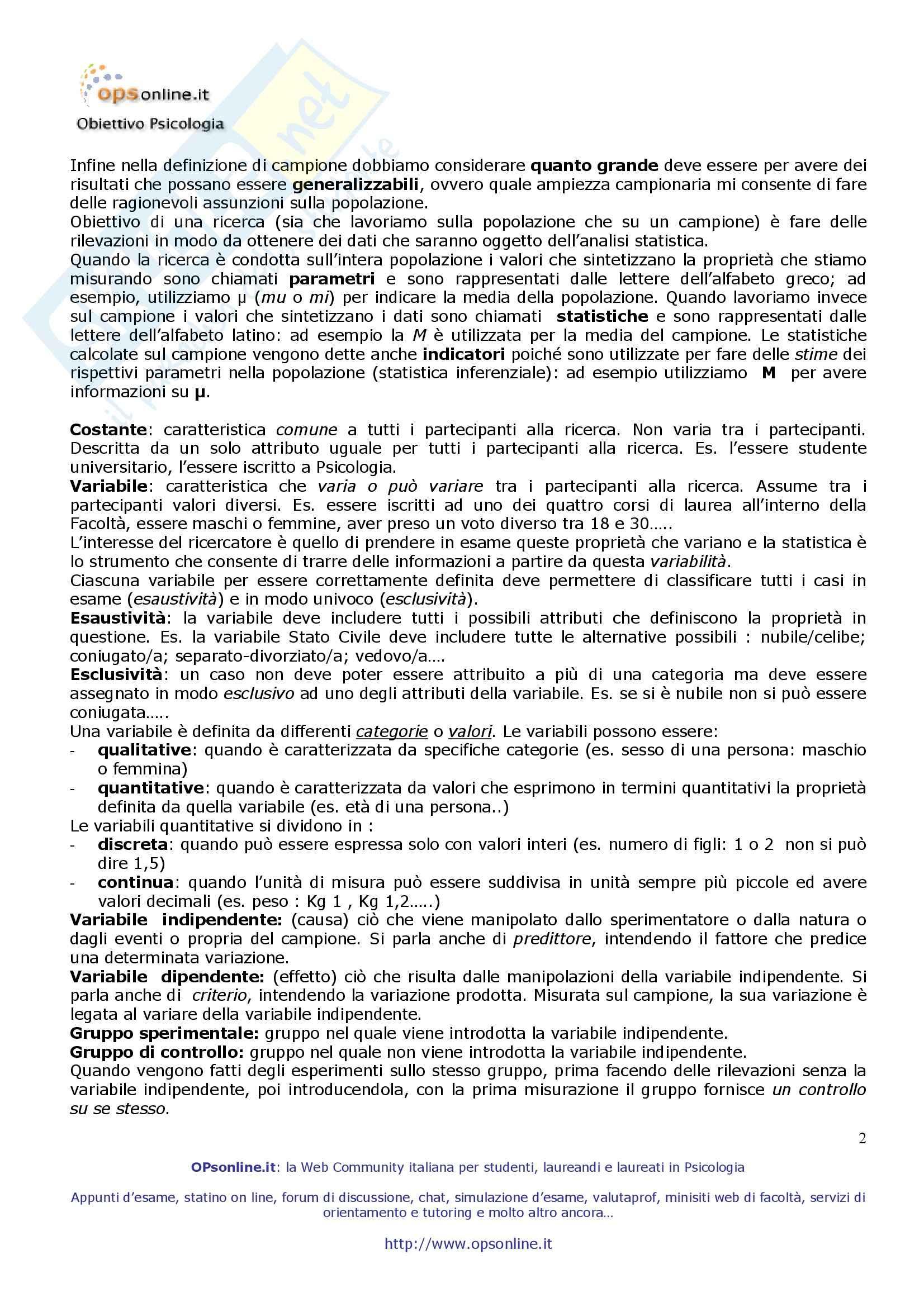Psicometria - Appunti Pag. 2