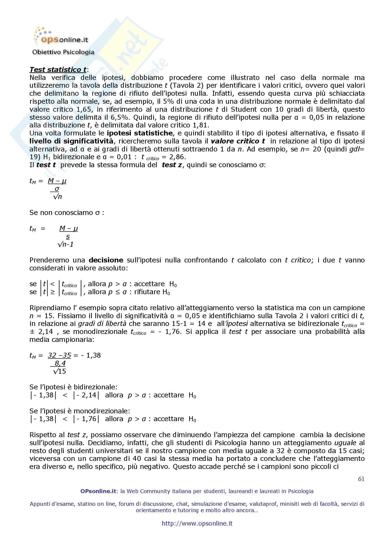 Psicometria - Appunti Pag. 61