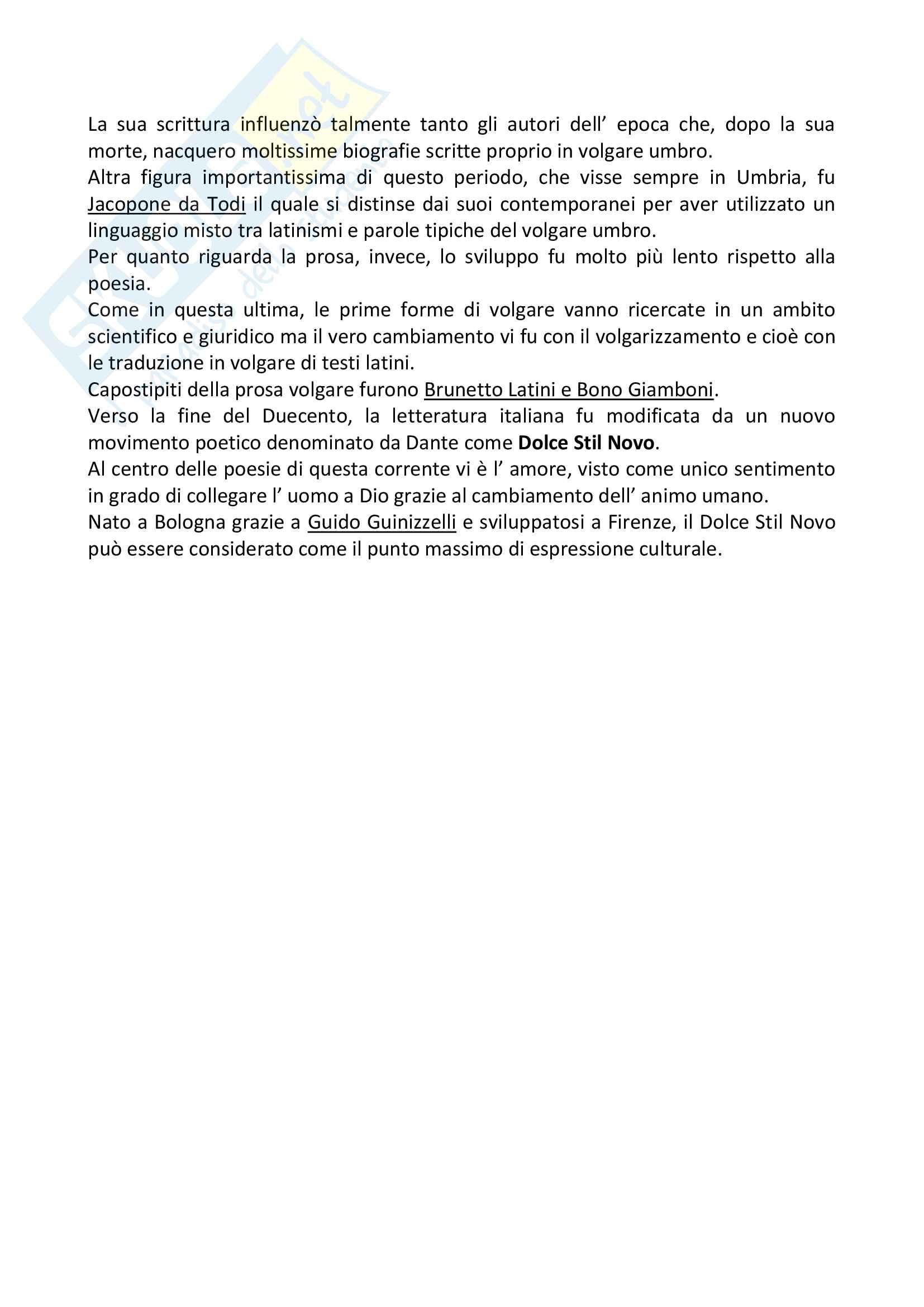 Storia completa della letteratura italiana Pag. 2