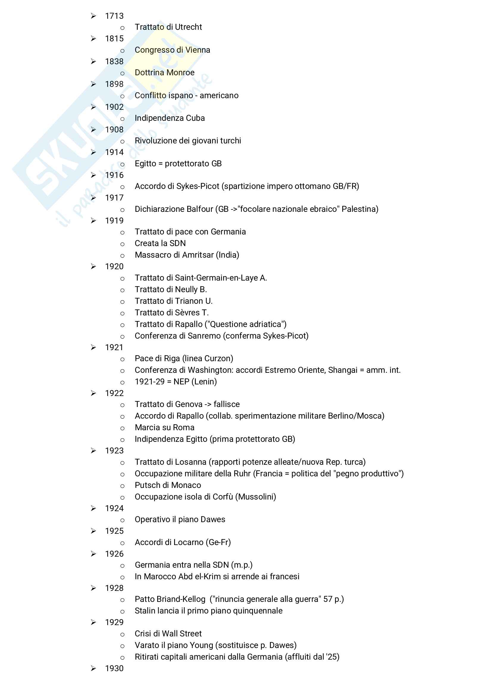 Linea del tempo completa del '900 Pag. 1