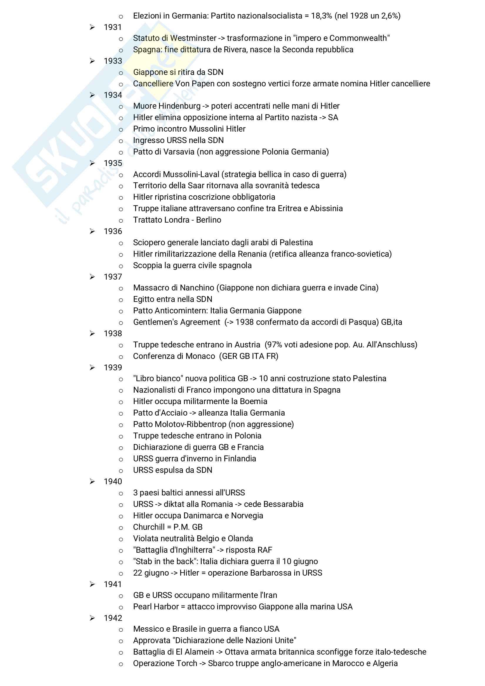 Linea del tempo completa del '900 Pag. 2