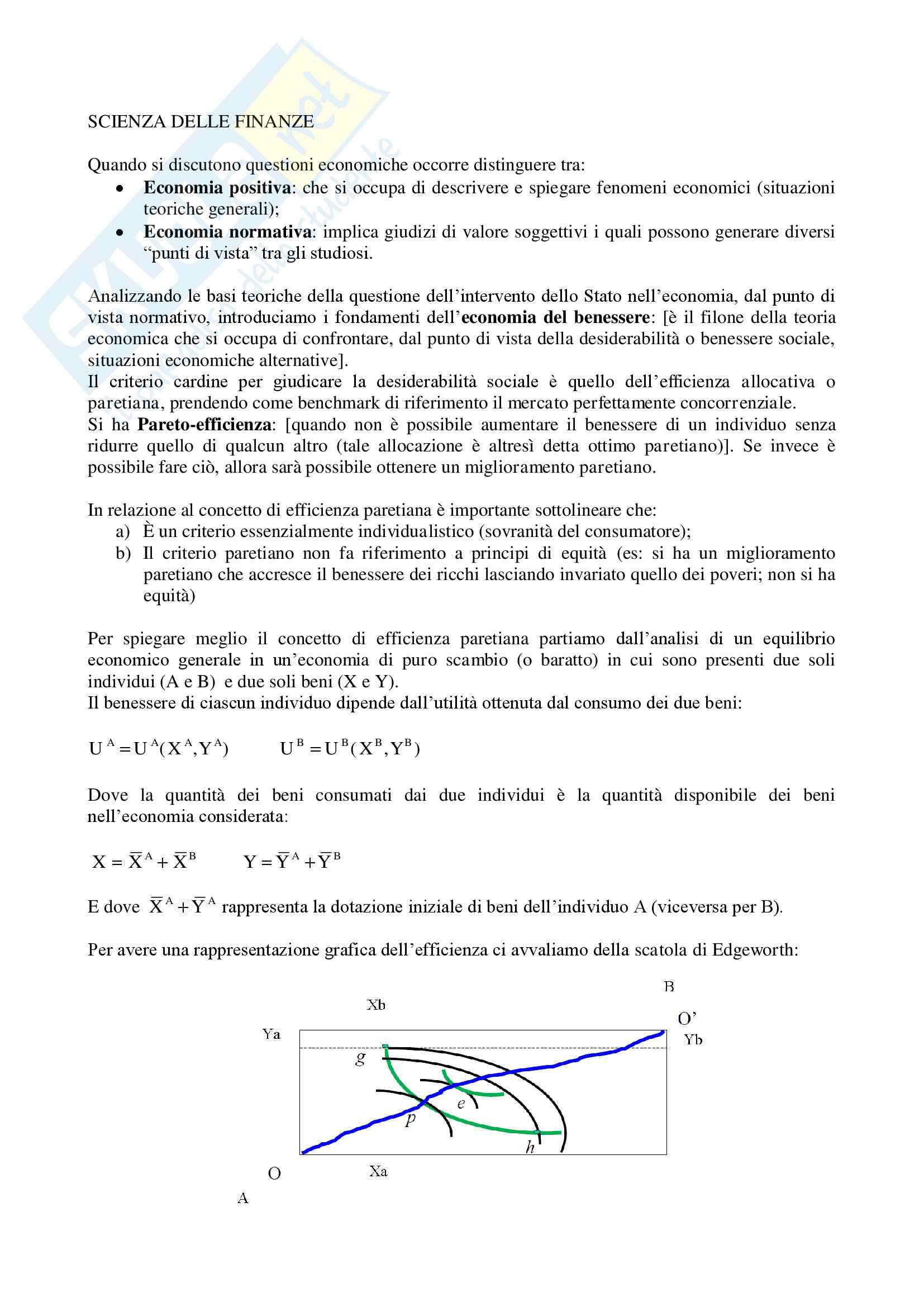 Riassunto Scienza delle finanze, professoressa Grazzini Lisa, libro consigliato: Scienza Delle Finanze, Balestrino, Galli, Spataro