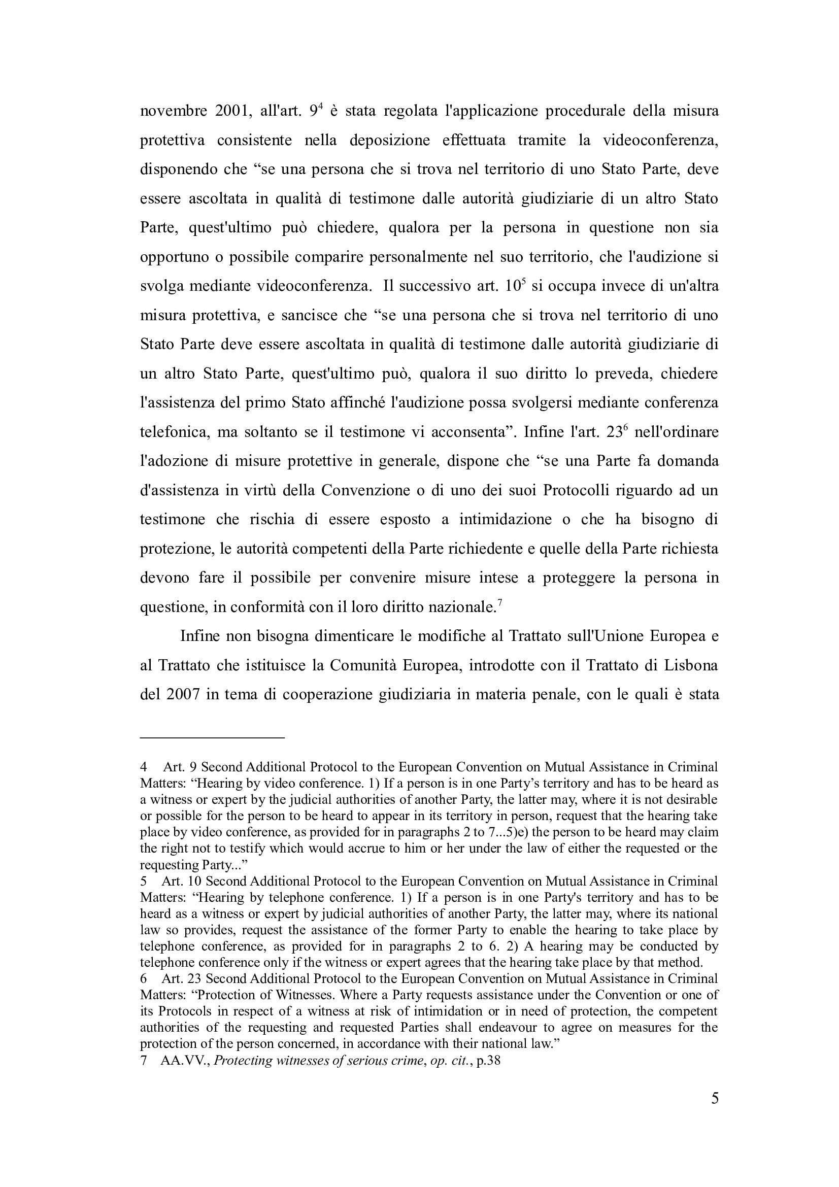 Tesi- La protezione dei testimoni davanti ai tribunali penali internazionali Pag. 11