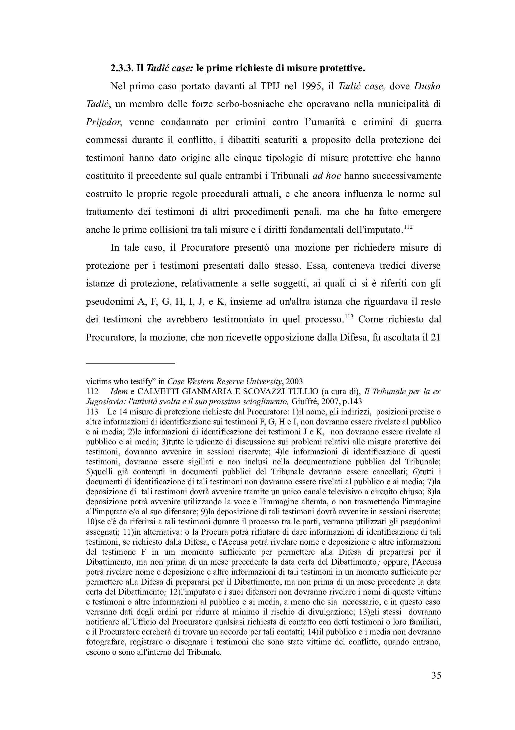 Tesi- La protezione dei testimoni davanti ai tribunali penali internazionali Pag. 41