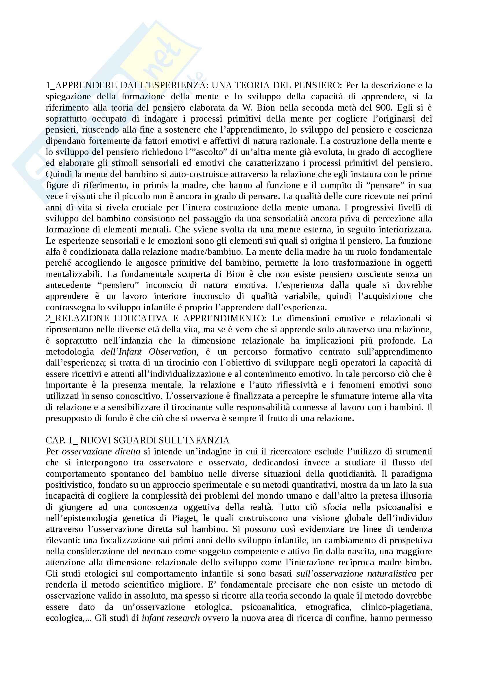 Riassunto esame Didattica e progettazione educativa, prof. Messetti, libro consigliato Educare lo sguardo