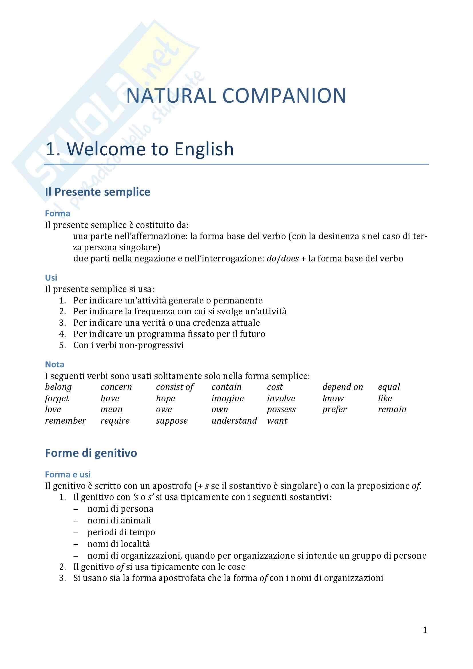 Traduzione ed esercizi svolti, Lingua inglese