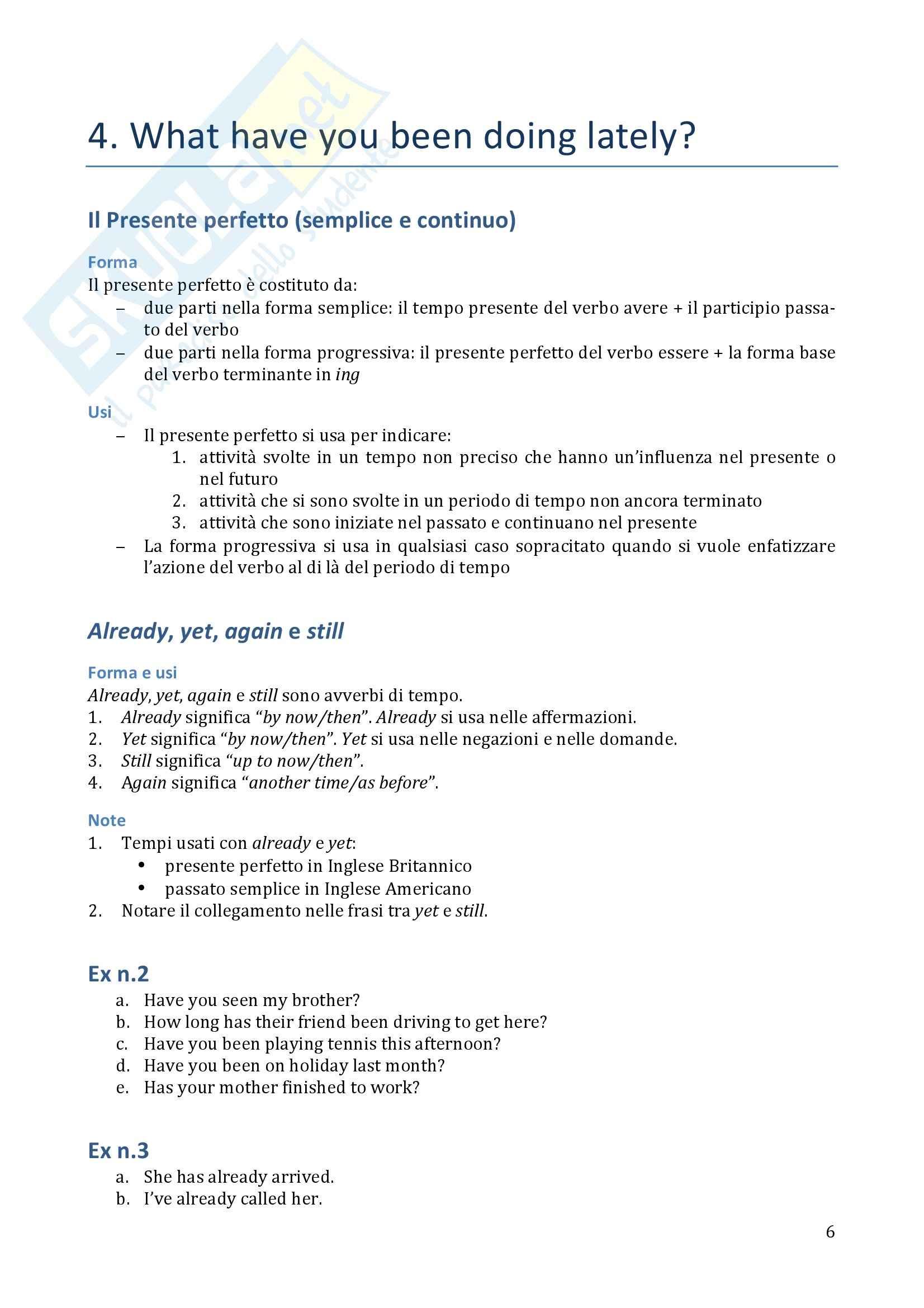 Traduzione ed esercizi svolti, Lingua inglese Pag. 6