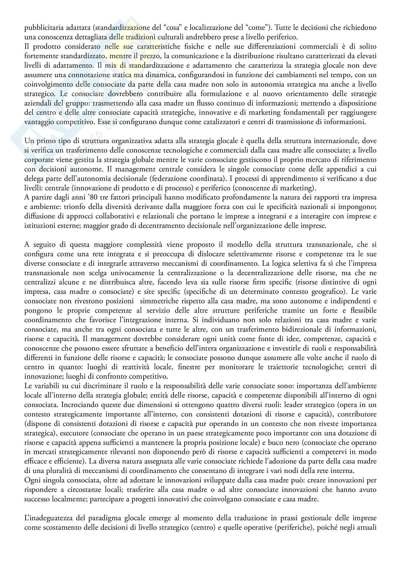 Riassunto esame Comunicazione internazionale, prof. Linda Gabbianelli, libro consigliato La comunicazione internazionale di marketing, A. Di Gregorio Pag. 6