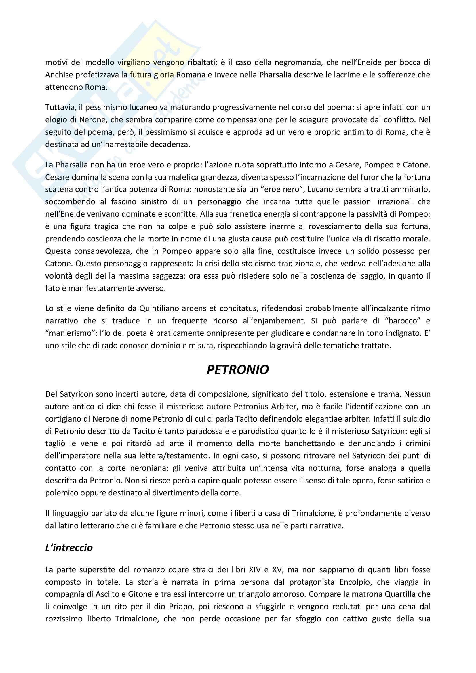Riassunto esame Letteratura latina, prof. Delvigo, libro consigliato Letteratura latina: la prima età imperiale, Conte Pag. 6