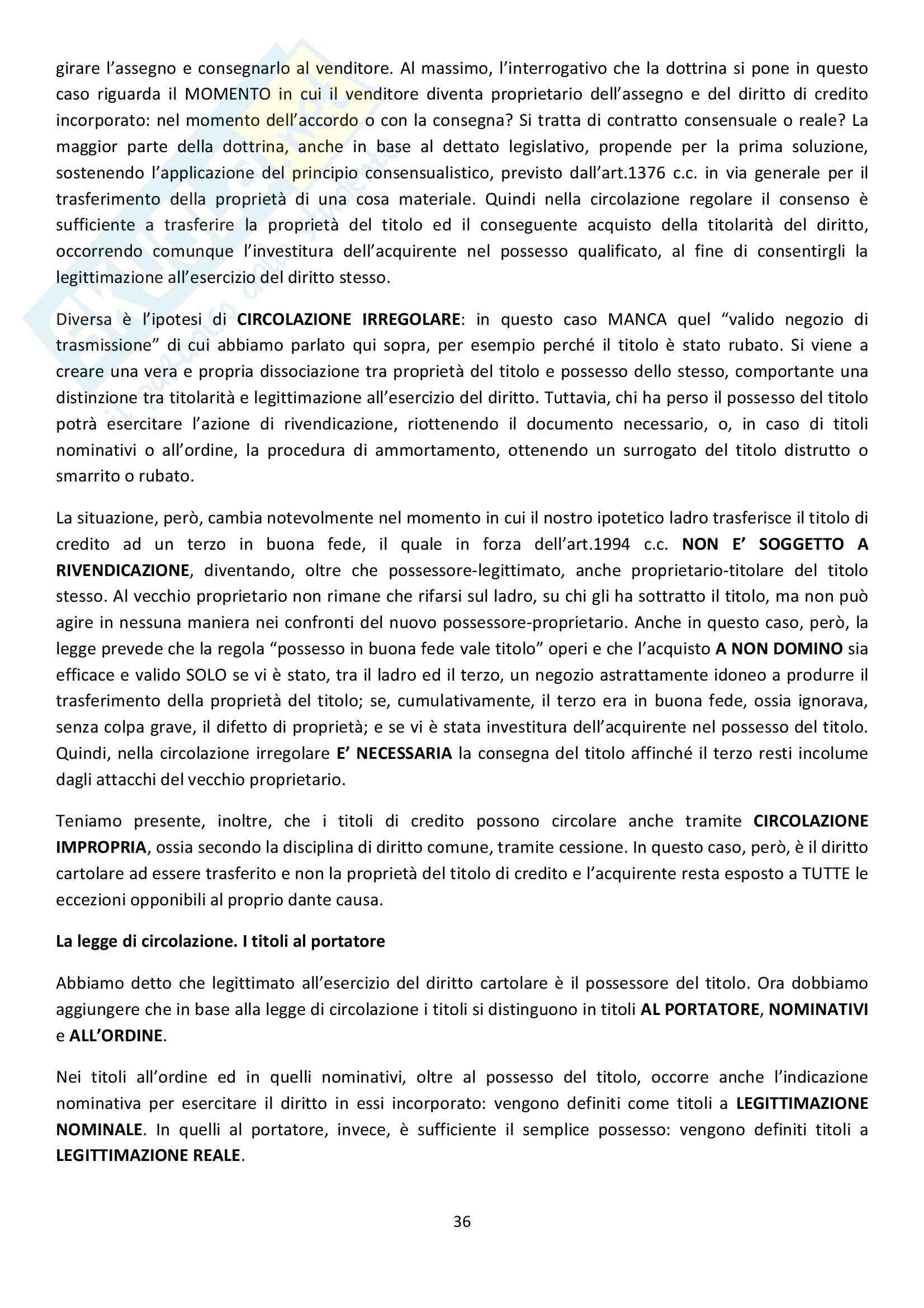Riassunto esame Diritto Commerciale, prof. Griffi, libro consigliato Campobasso Pag. 36