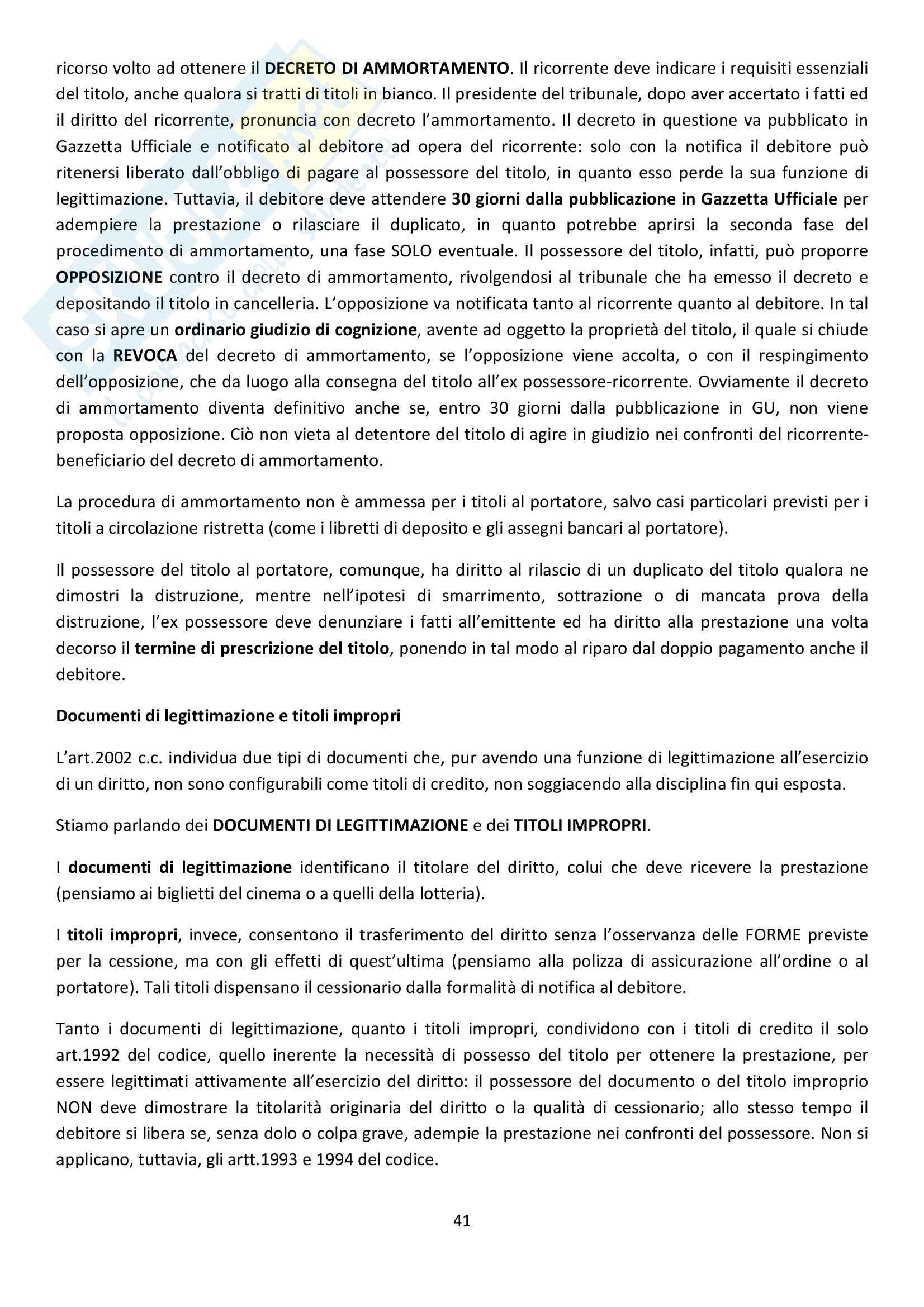 Riassunto esame Diritto Commerciale, prof. Griffi, libro consigliato Campobasso Pag. 41
