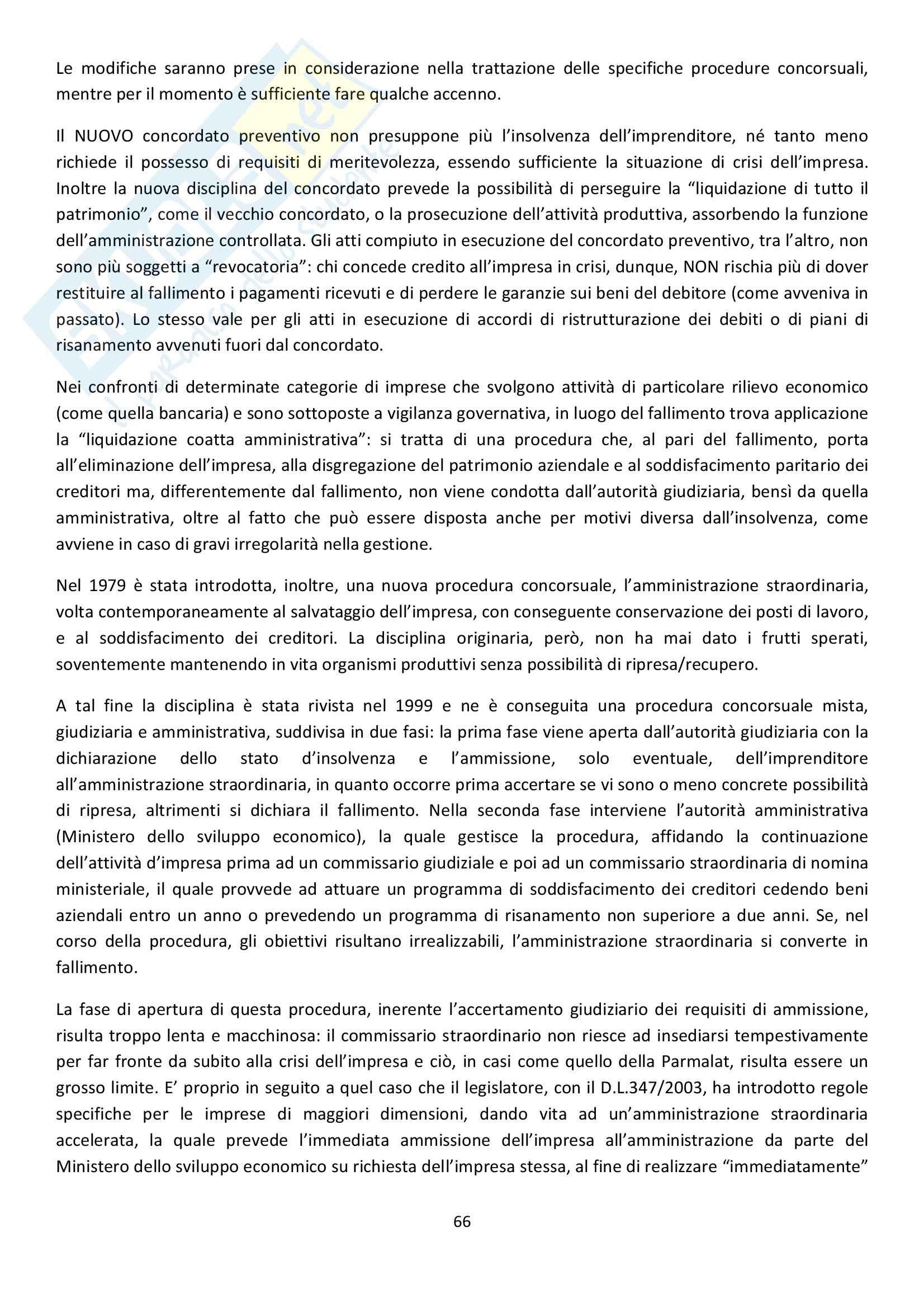 Riassunto esame Diritto Commerciale, prof. Griffi, libro consigliato Campobasso Pag. 66