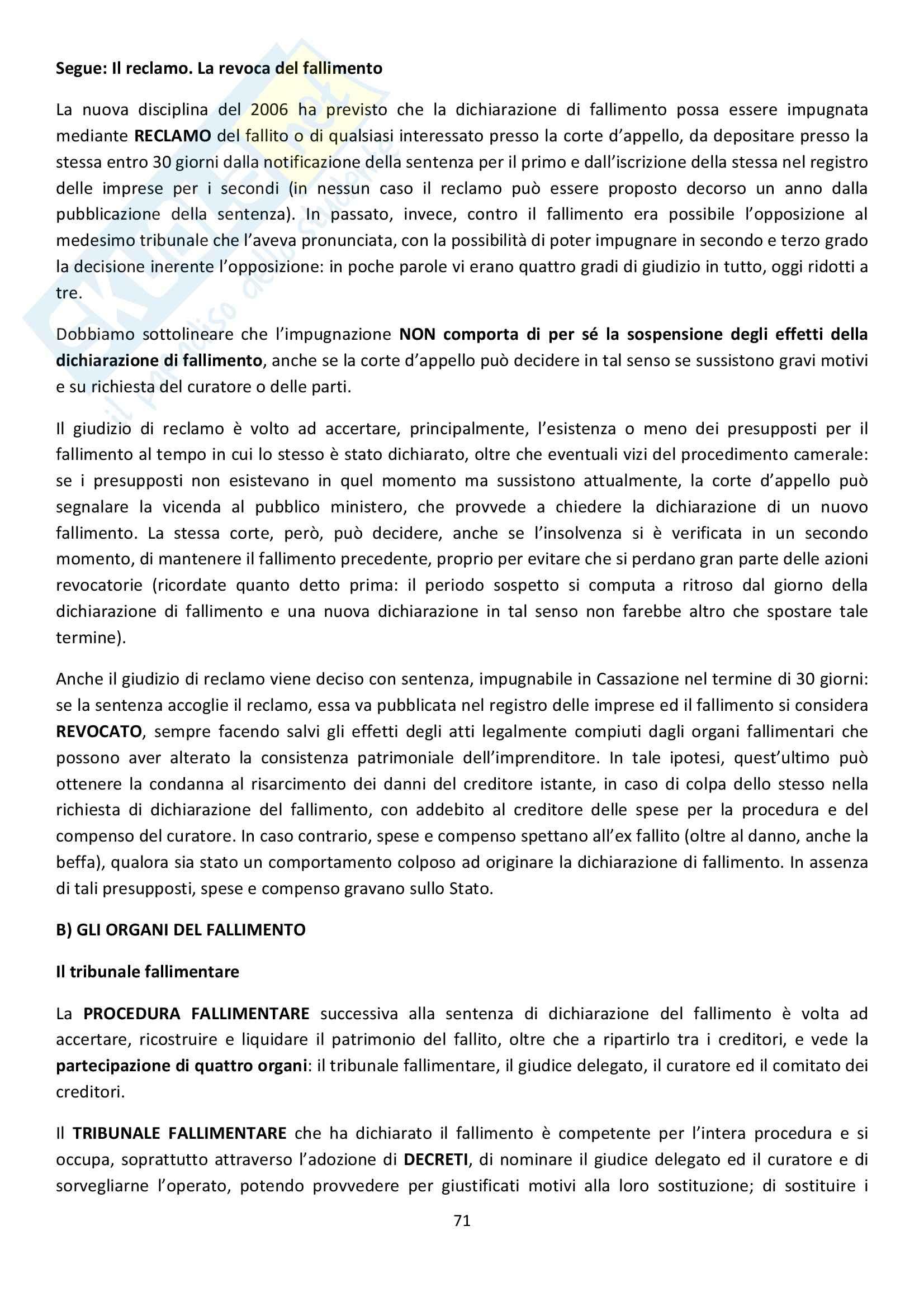 Riassunto esame Diritto Commerciale, prof. Griffi, libro consigliato Campobasso Pag. 71