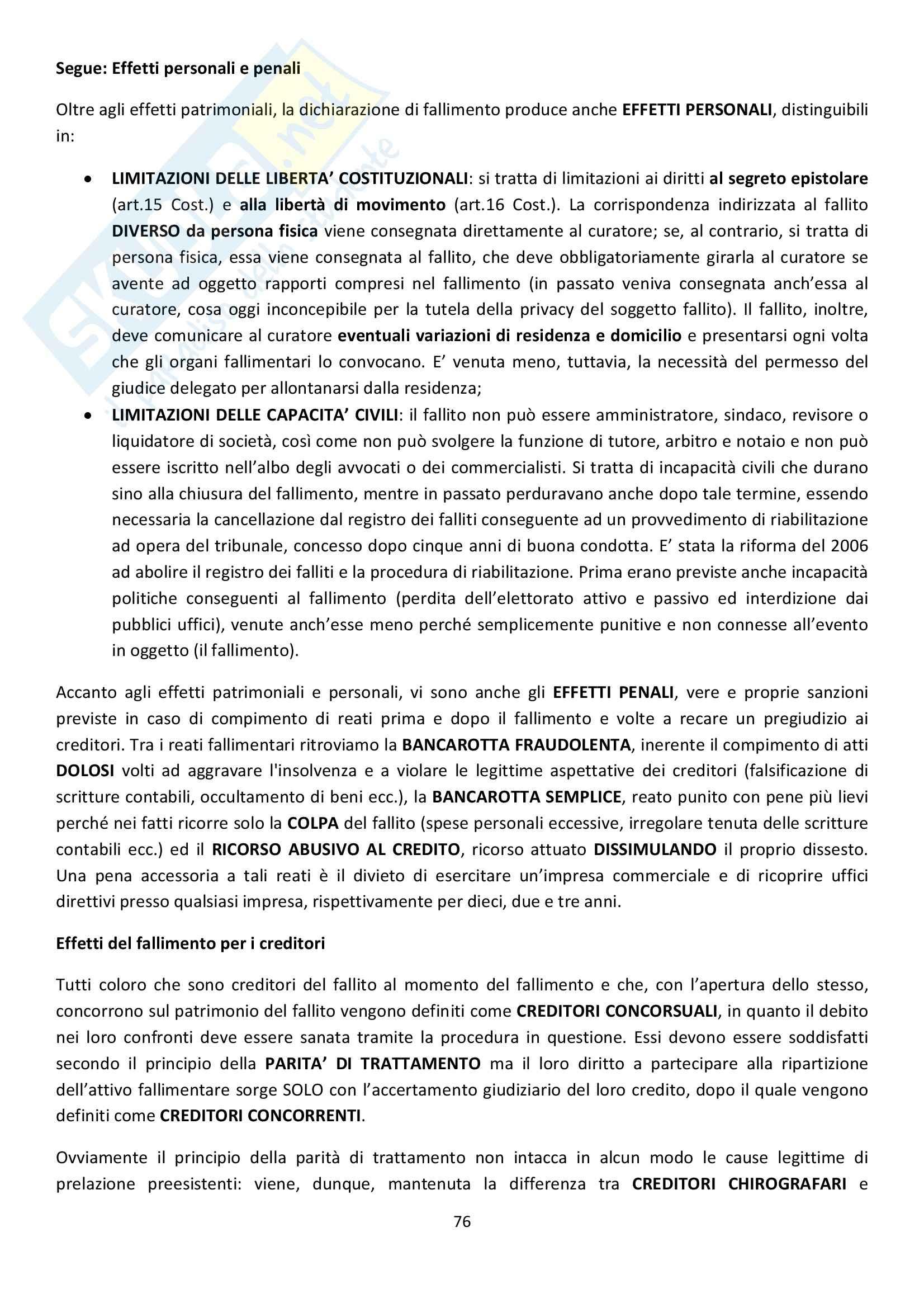 Riassunto esame Diritto Commerciale, prof. Griffi, libro consigliato Campobasso Pag. 76