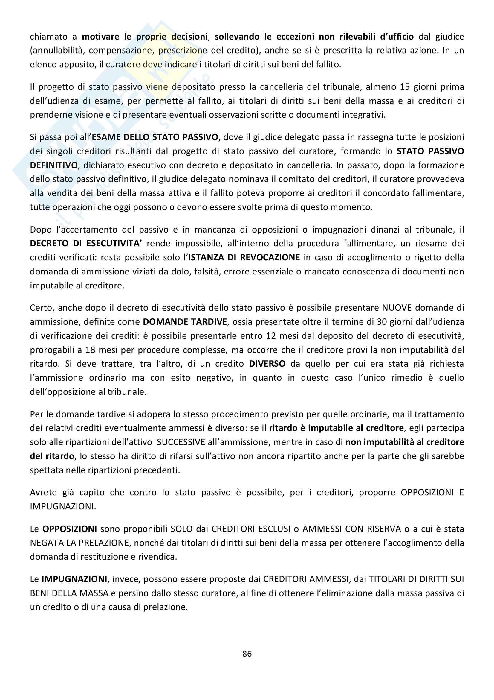 Riassunto esame Diritto Commerciale, prof. Griffi, libro consigliato Campobasso Pag. 86