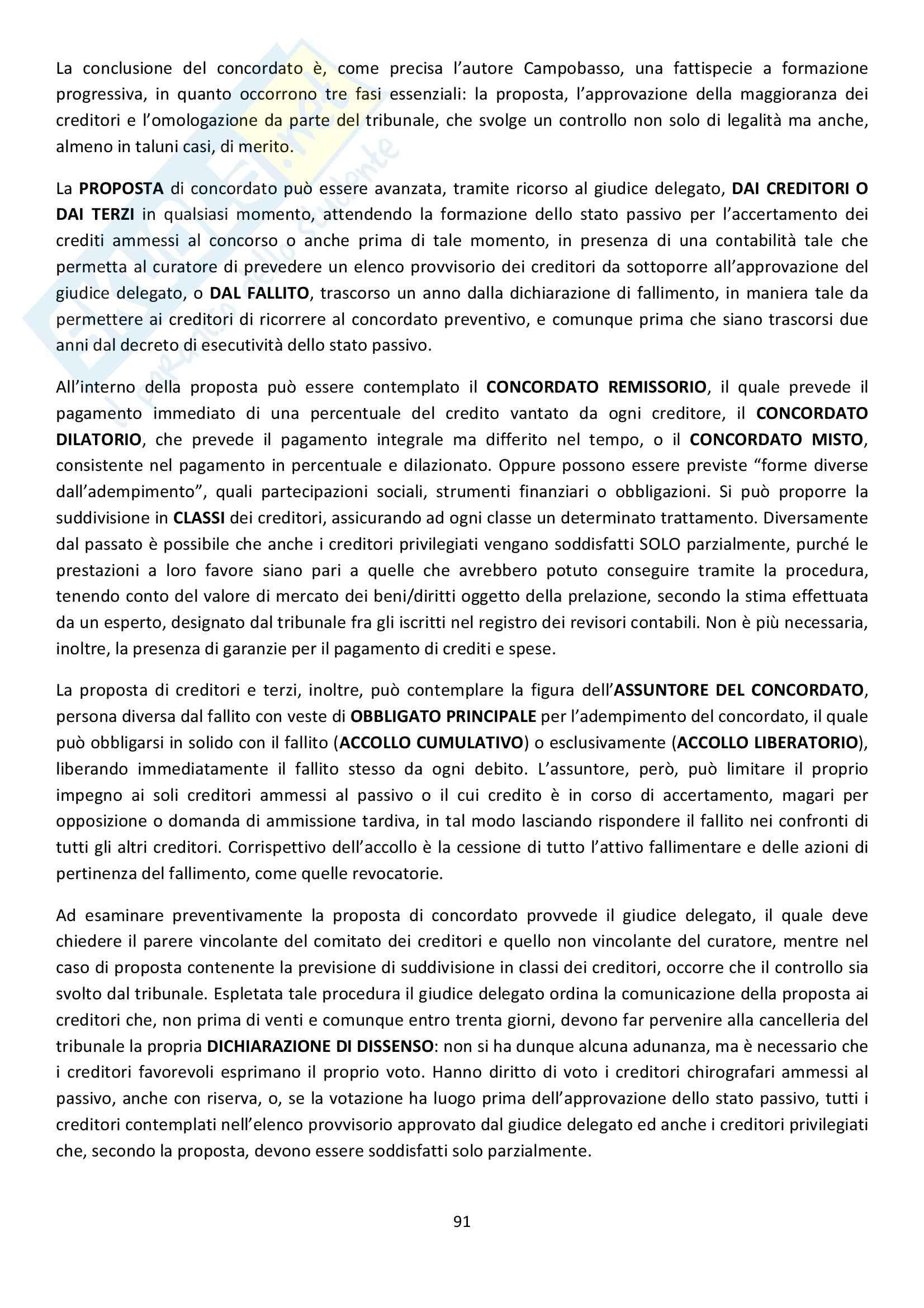 Riassunto esame Diritto Commerciale, prof. Griffi, libro consigliato Campobasso Pag. 91