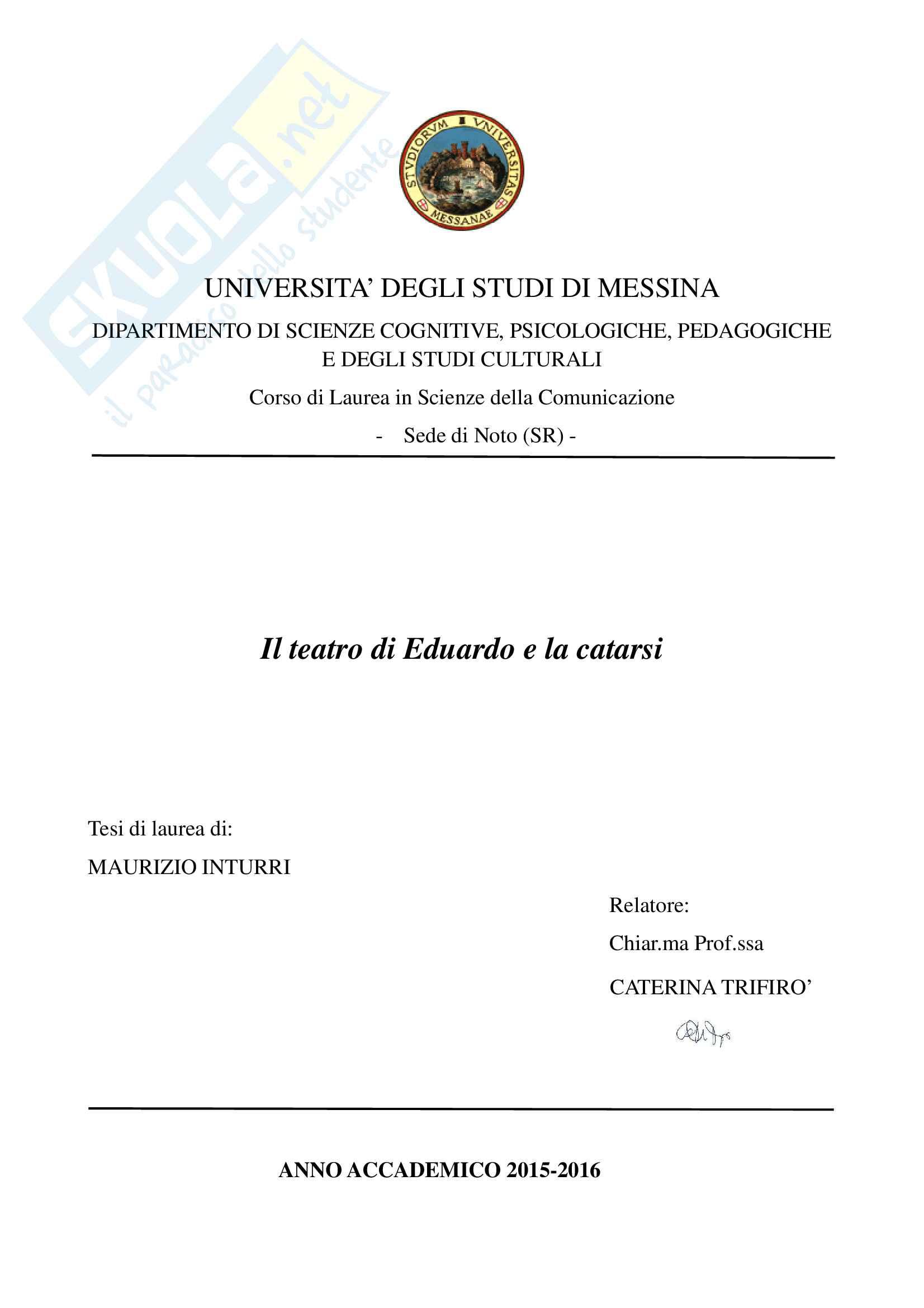 tesi D. Tomasello Letteratura italiana contemporanea
