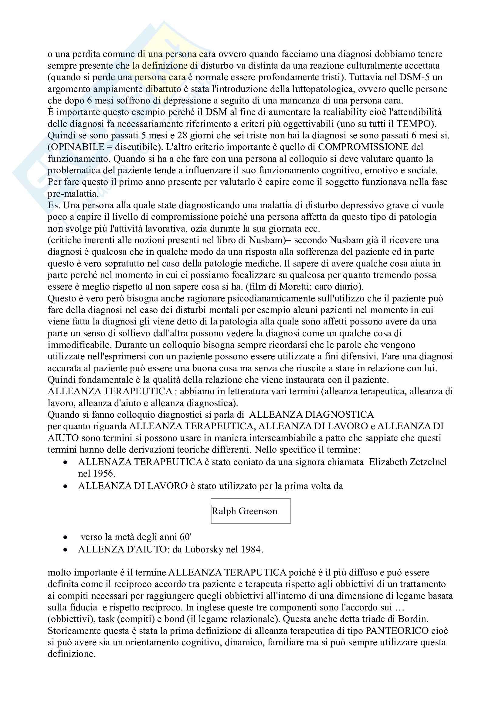 Appunti dell'esame di colloquio clinico Pag. 11