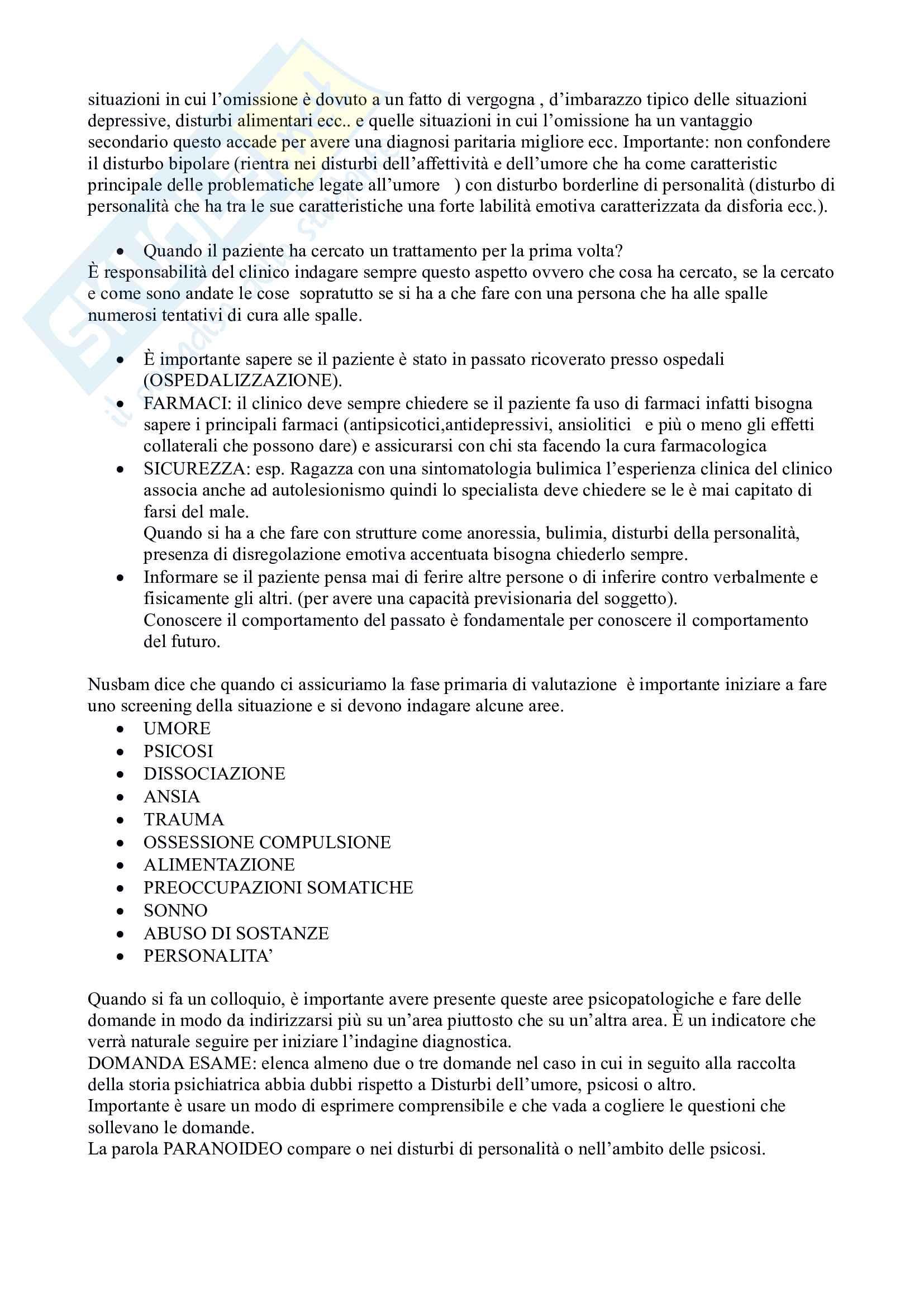 Appunti dell'esame di colloquio clinico Pag. 16