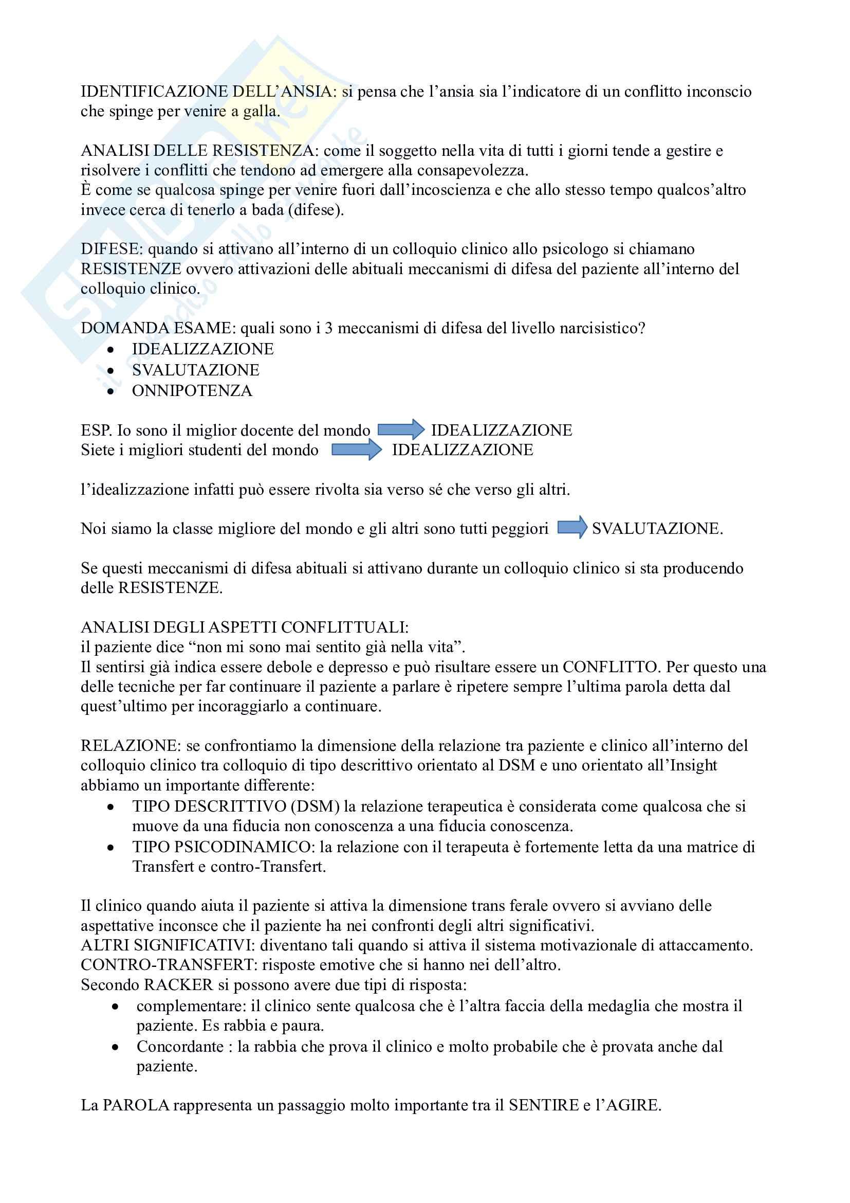 Appunti dell'esame di colloquio clinico Pag. 6