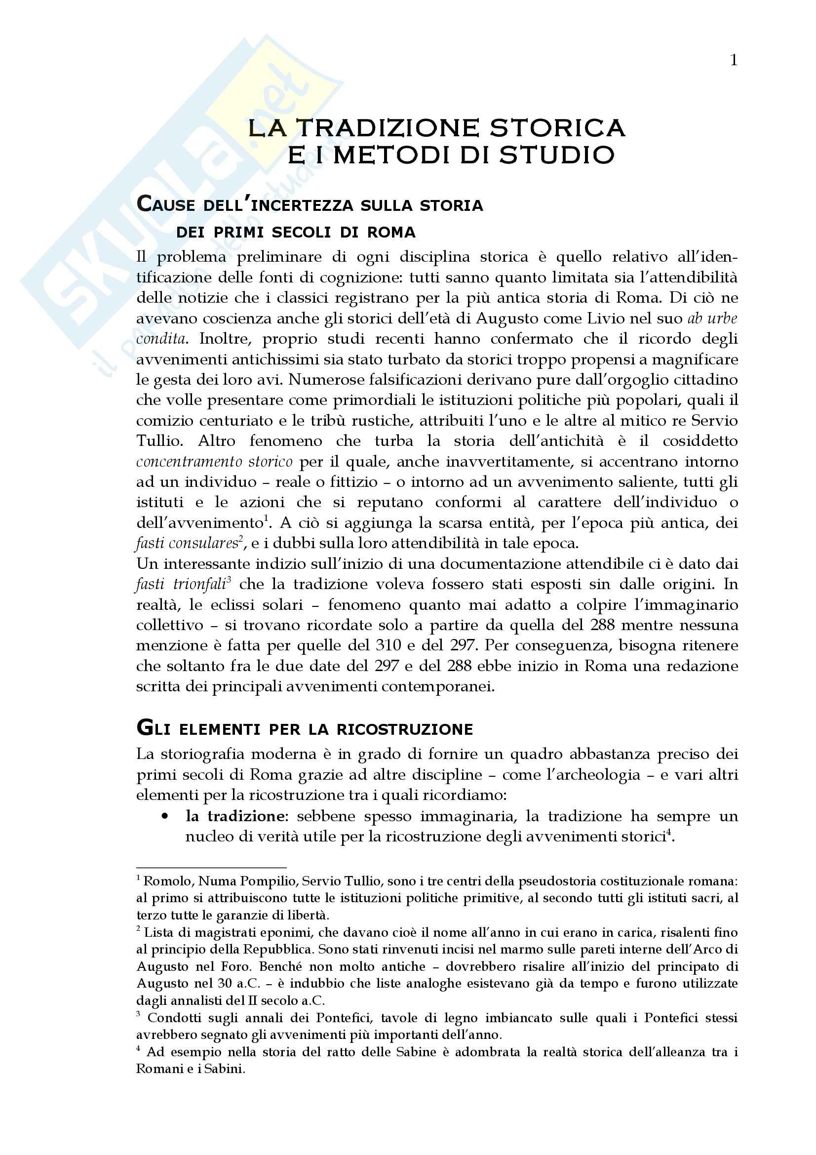 Storia del diritto romano - storia dell'età monarchica