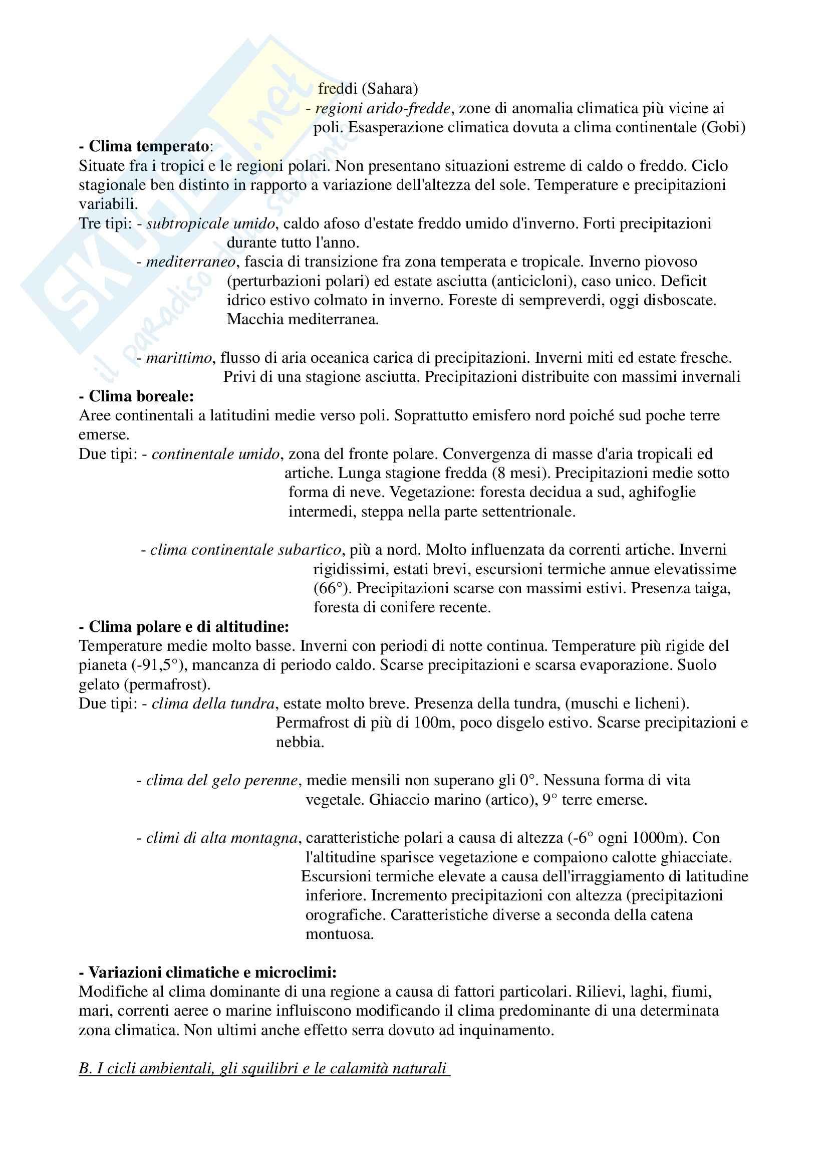 Geografia generale - Riassunto esame, prof. Boria Pag. 11