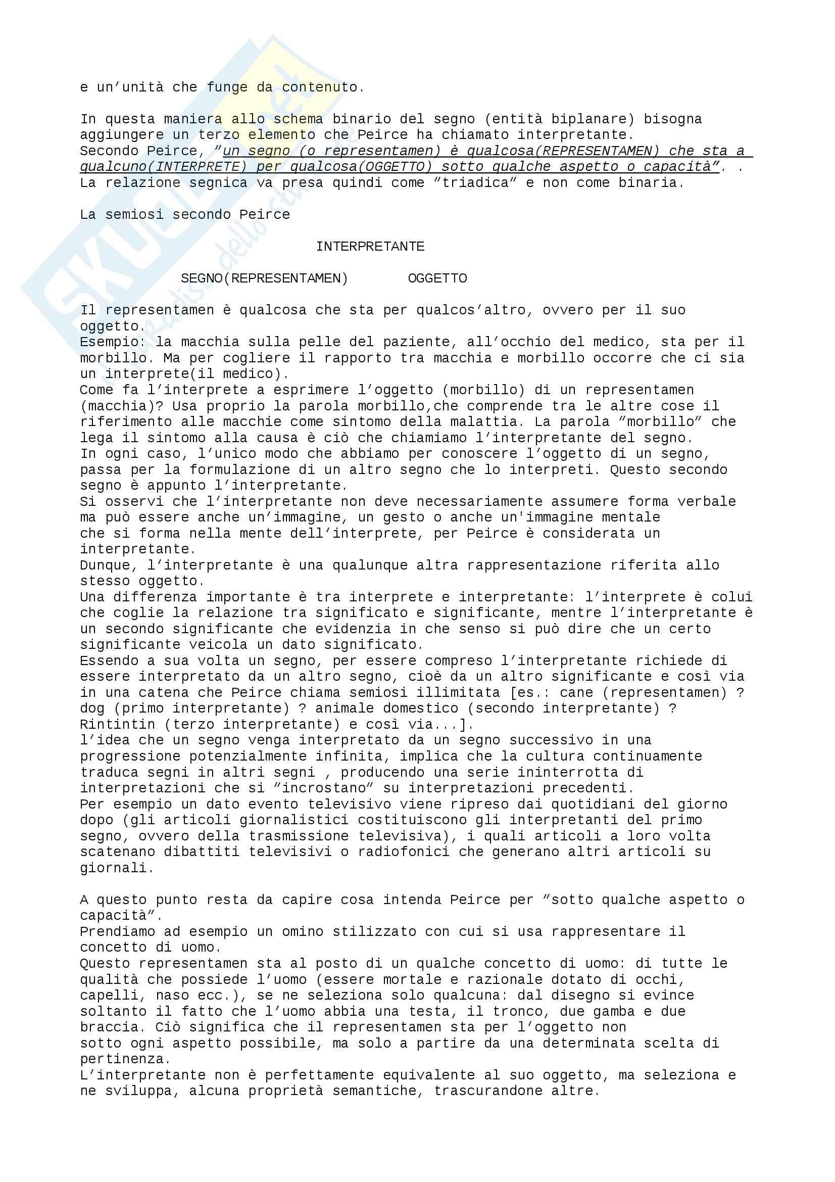 Riassunto esame Semiotica, prof. Volli, libro consigliato Manuale di semiotica, Volli Pag. 6
